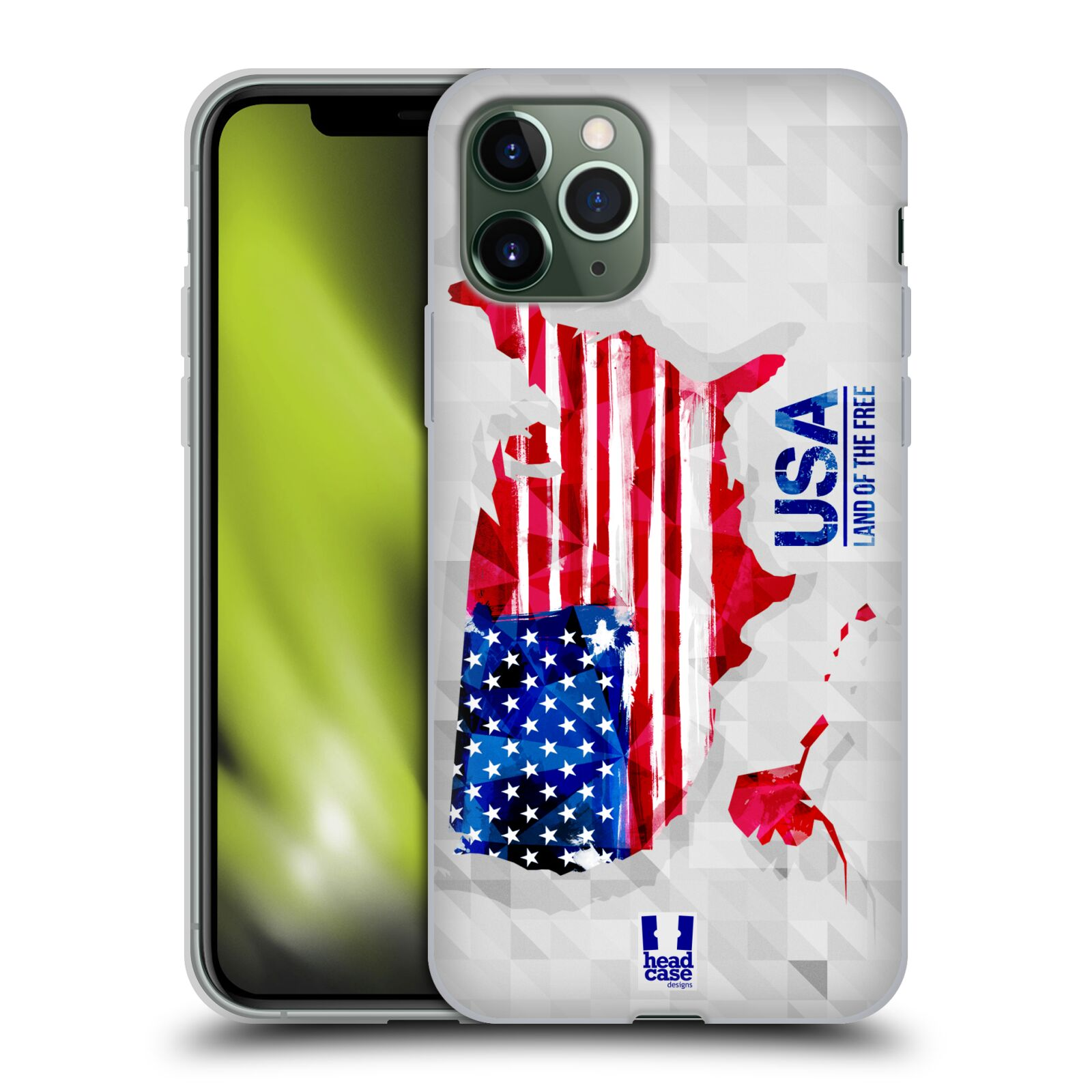 iphone ý | Silikonové pouzdro na mobil Apple iPhone 11 Pro - Head Case - GEOMAPA USA