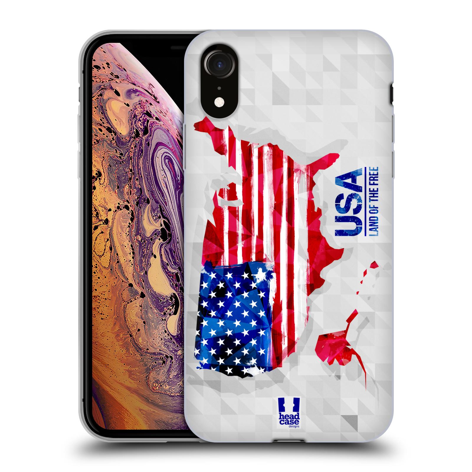 Silikonové pouzdro na mobil Apple iPhone XR - Head Case - GEOMAPA USA