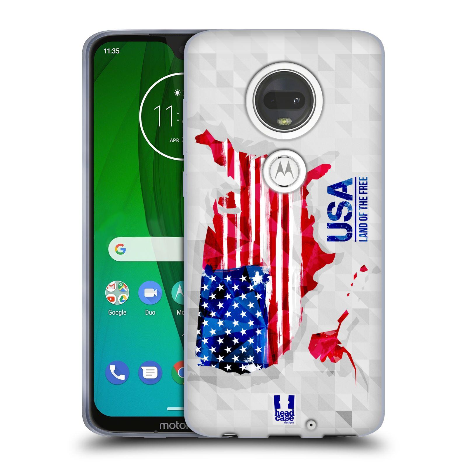 Silikonové pouzdro na mobil Motorola Moto G7 - Head Case - GEOMAPA USA