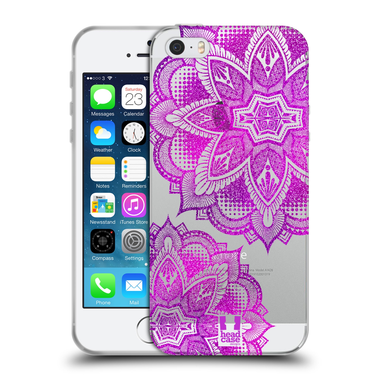 Silikonové pouzdro na mobil Apple iPhone 5, 5S, SE - Head Case - Fialová mandala