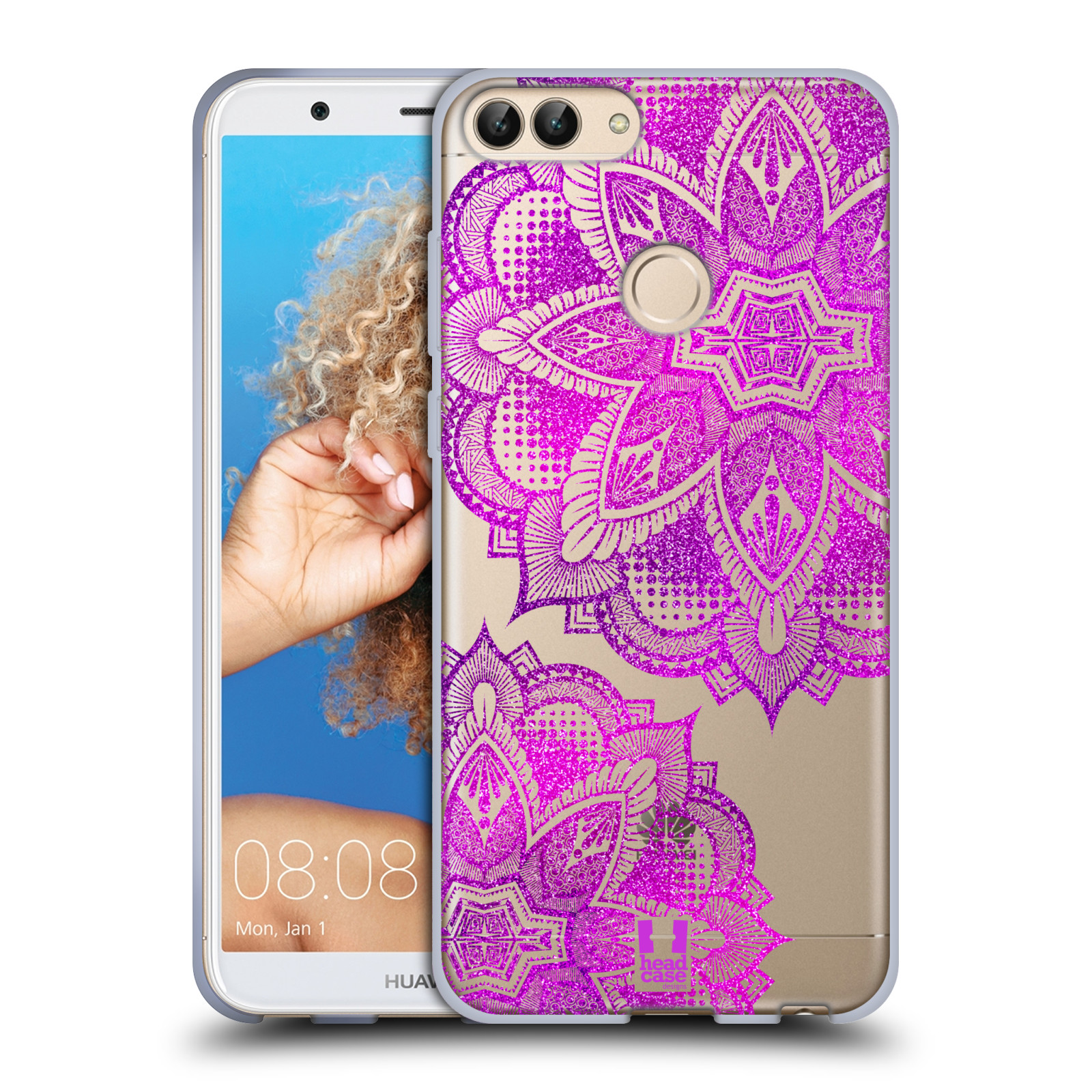 Silikonové pouzdro na mobil Huawei P Smart - Head Case - Fialová mandala