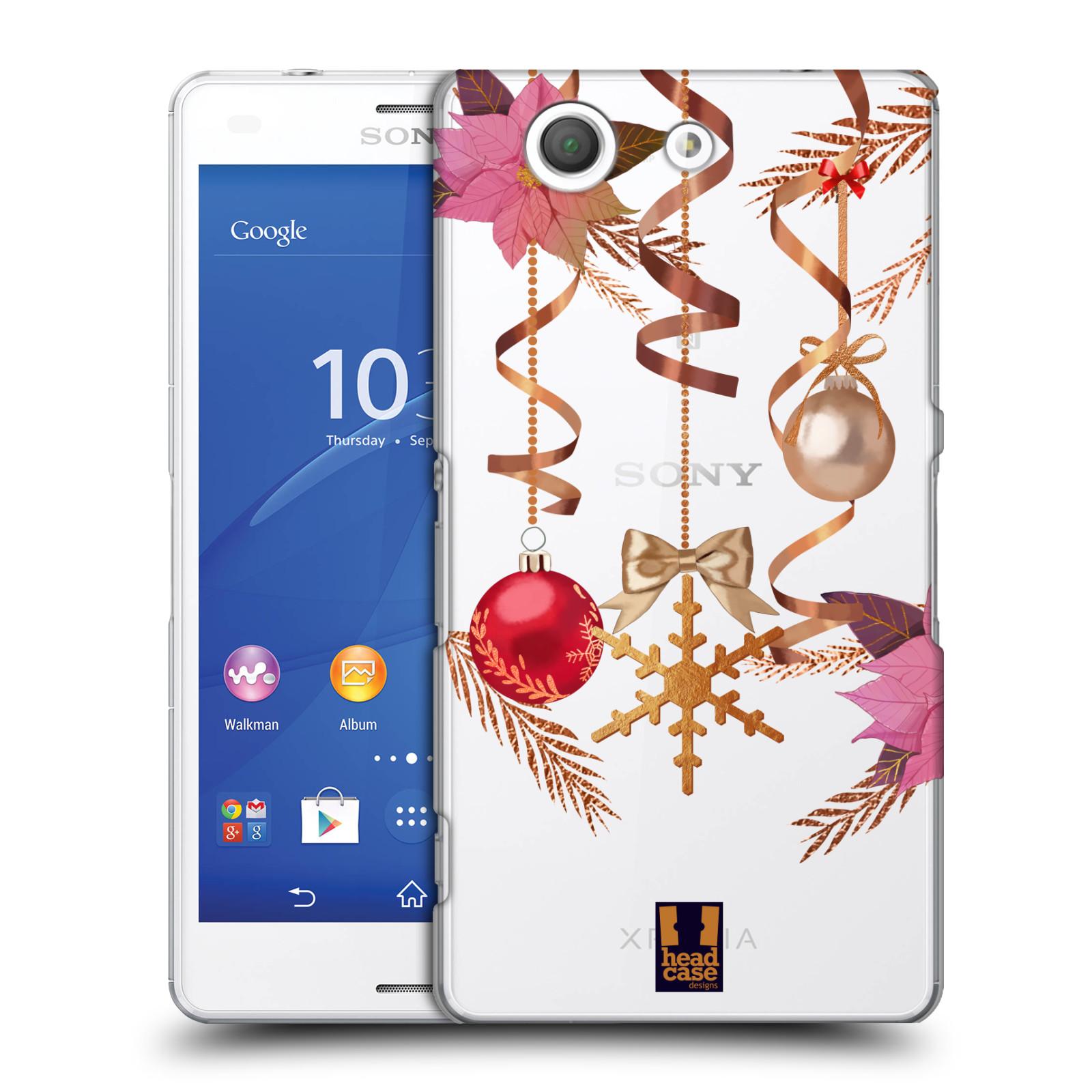 Plastové pouzdro na mobil Sony Xperia Z3 Compact D5803 - Head Case - Vločka a vánoční ozdoby