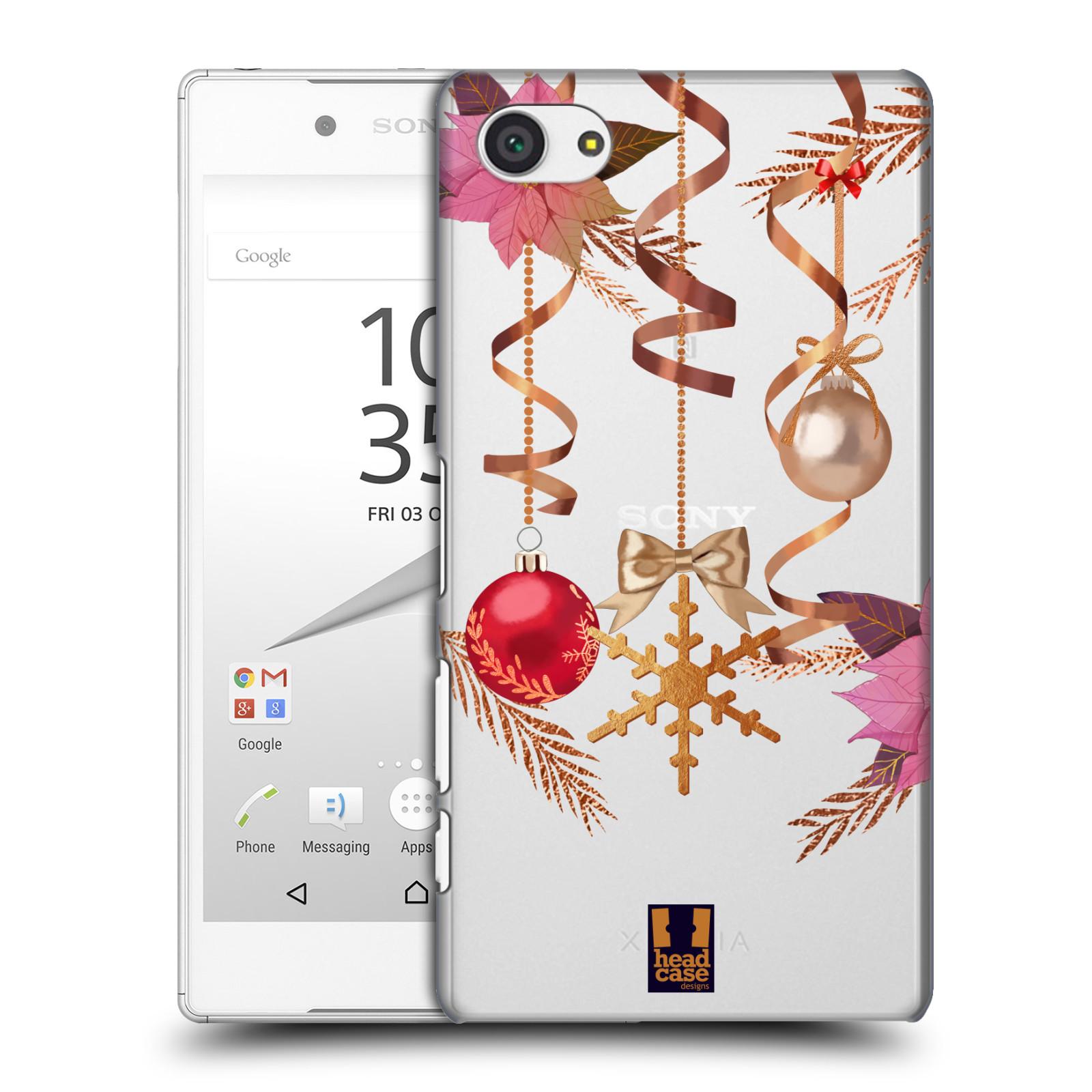 Plastové pouzdro na mobil Sony Xperia Z5 Compact - Head Case - Vločka a vánoční ozdoby