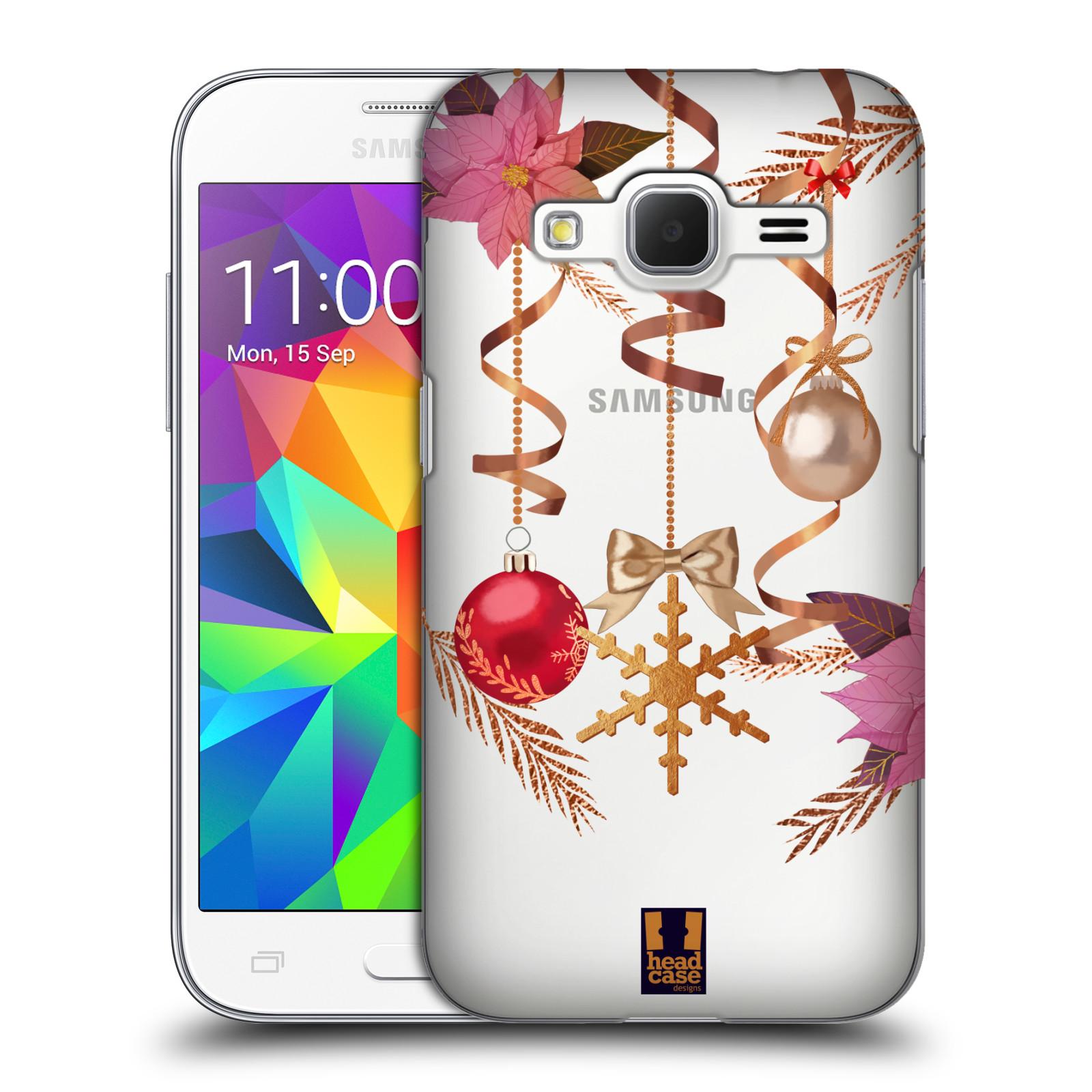 Plastové pouzdro na mobil Samsung Galaxy Core Prime LTE - Head Case - Vločka a vánoční ozdoby