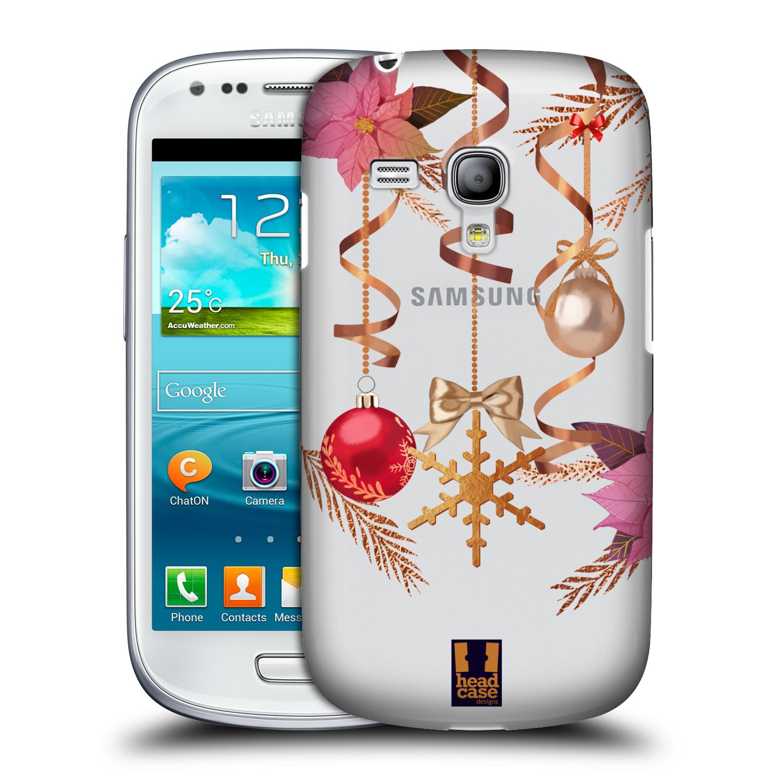 Plastové pouzdro na mobil Samsung Galaxy S III Mini - Head Case - Vločka a vánoční ozdoby