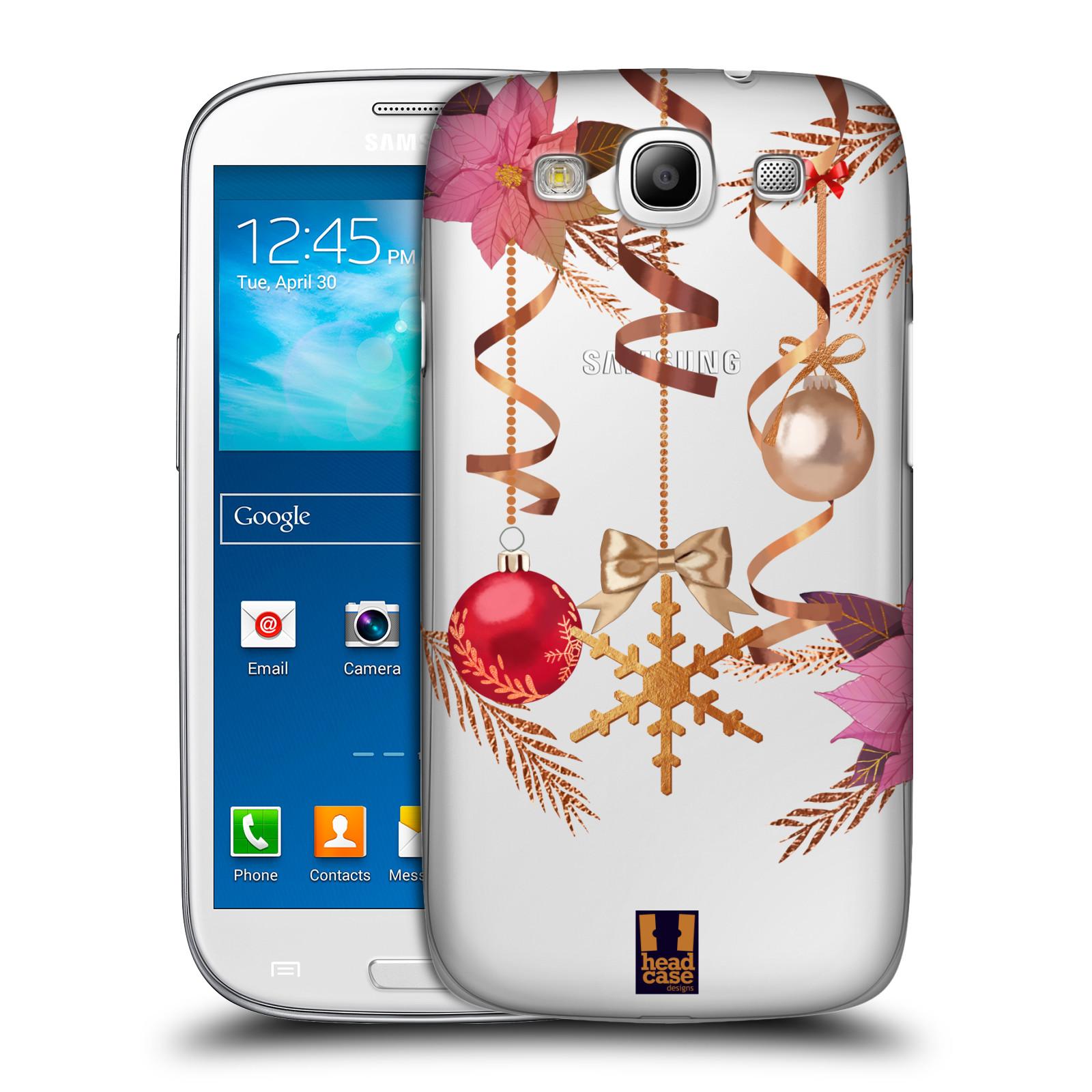 Plastové pouzdro na mobil Samsung Galaxy S III - Head Case - Vločka a vánoční ozdoby