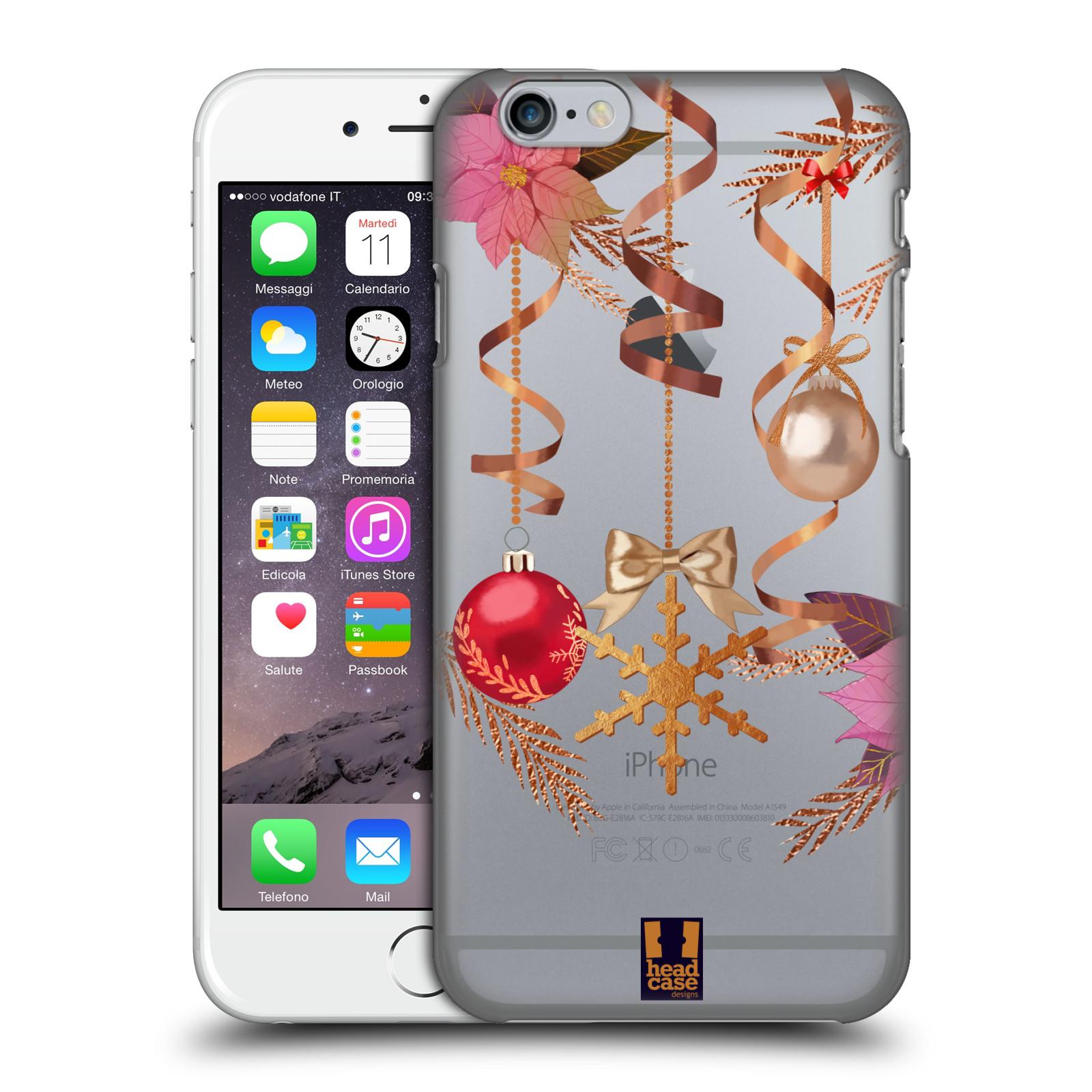 Plastové pouzdro na mobil Apple iPhone 6 - Head Case - Vločka a vánoční ozdoby