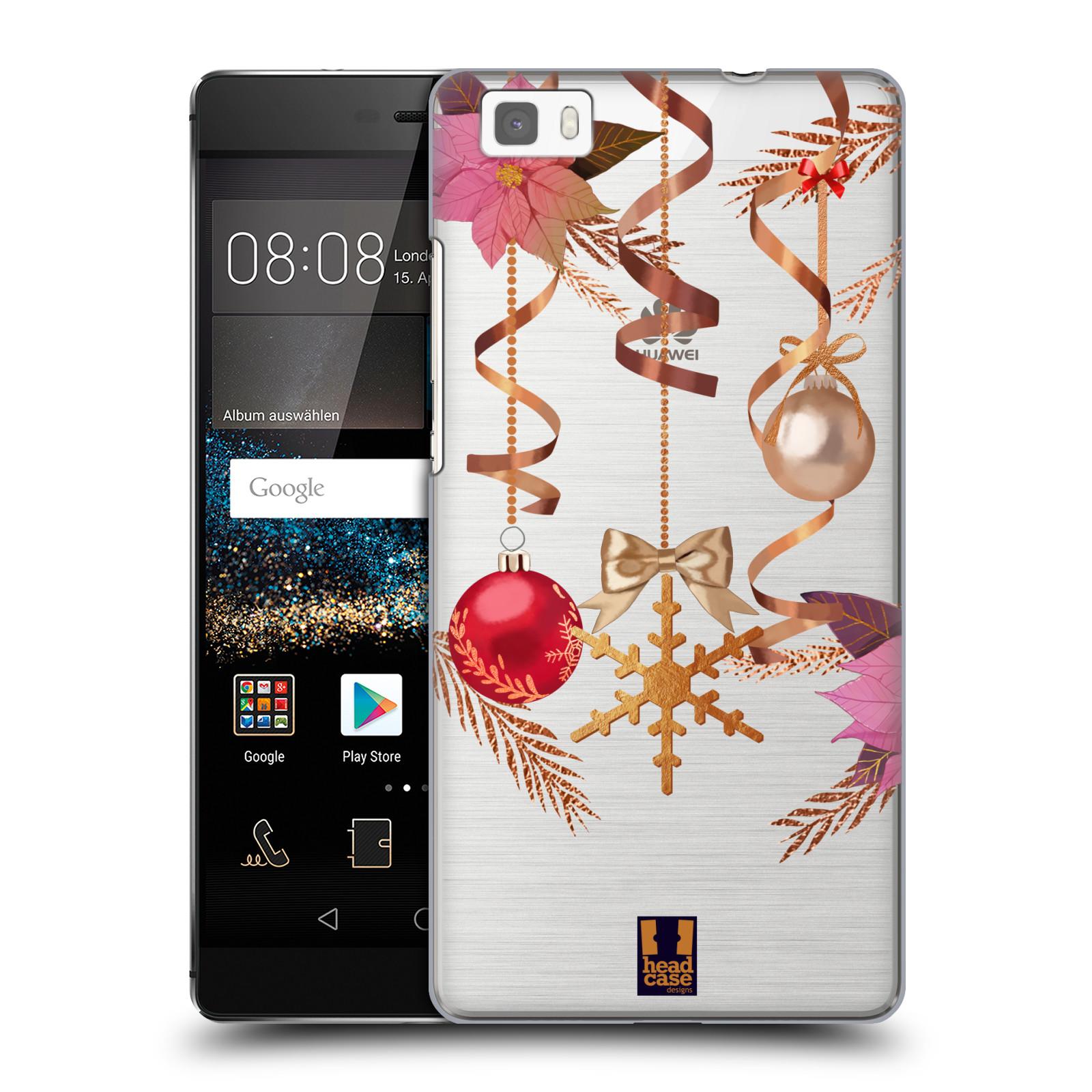 Plastové pouzdro na mobil Huawei P8 Lite - Head Case - Vločka a vánoční ozdoby