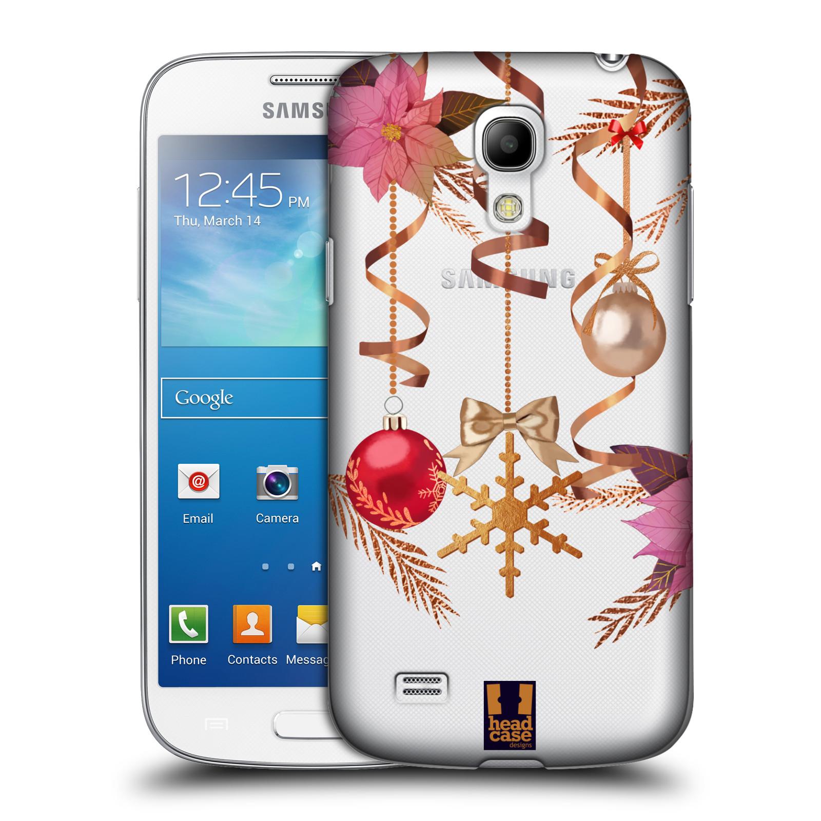 Plastové pouzdro na mobil Samsung Galaxy S4 Mini VE - Head Case - Vločka a vánoční ozdoby