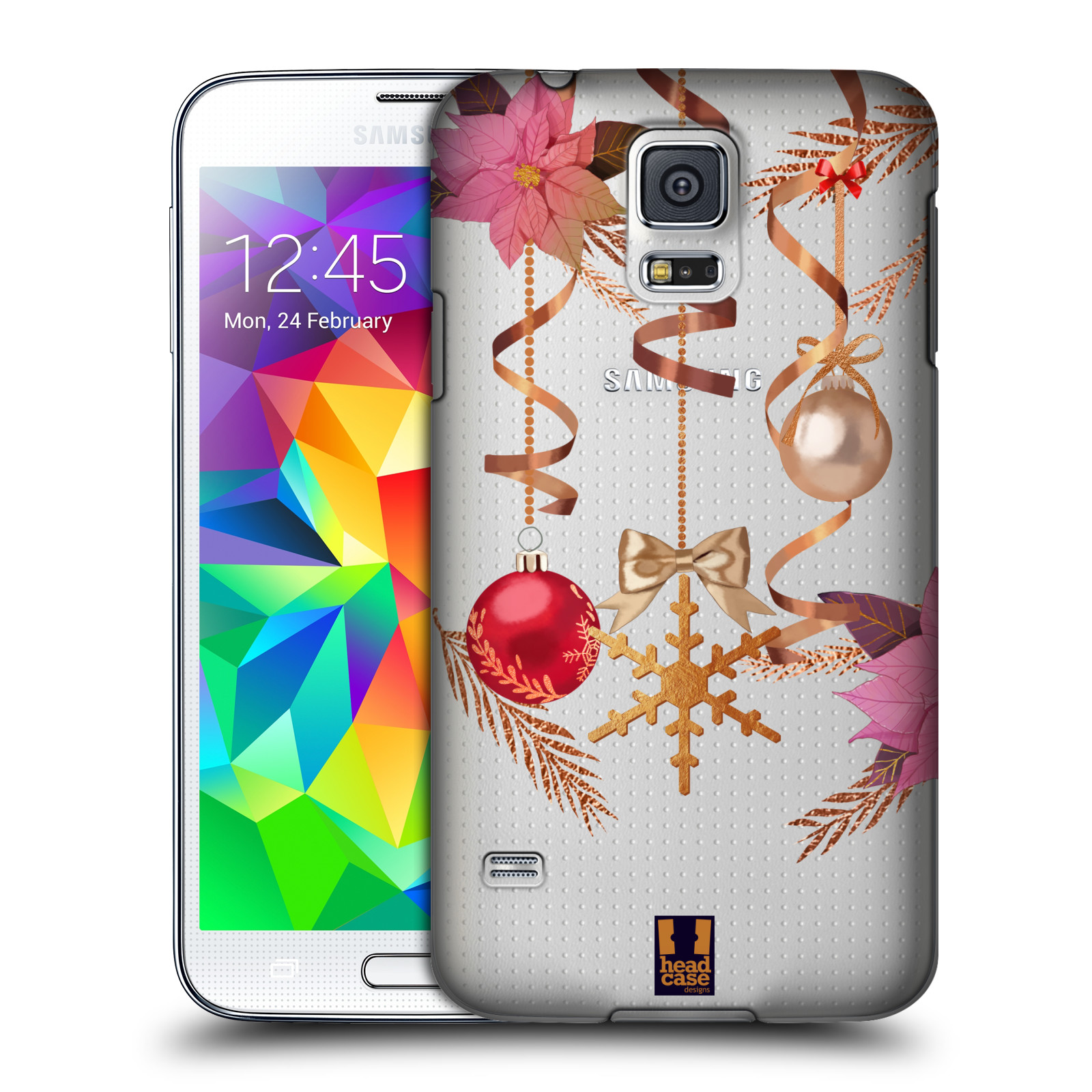 Plastové pouzdro na mobil Samsung Galaxy S5 - Head Case - Vločka a vánoční ozdoby