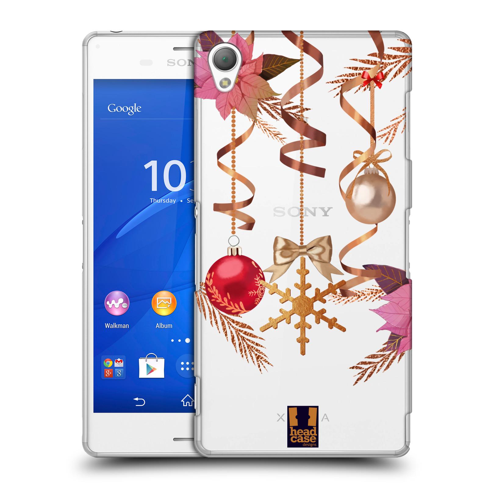 Plastové pouzdro na mobil Sony Xperia Z3 D6603 - Head Case - Vločka a vánoční ozdoby
