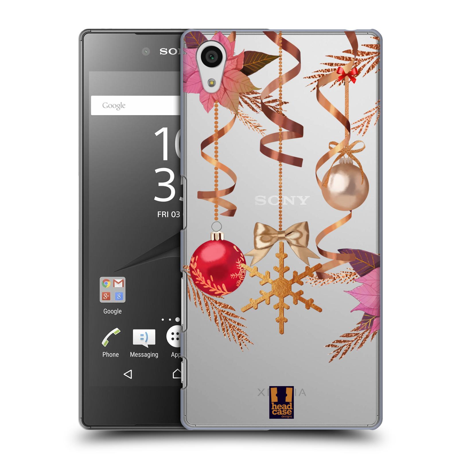 Plastové pouzdro na mobil Sony Xperia Z5 - Head Case - Vločka a vánoční ozdoby