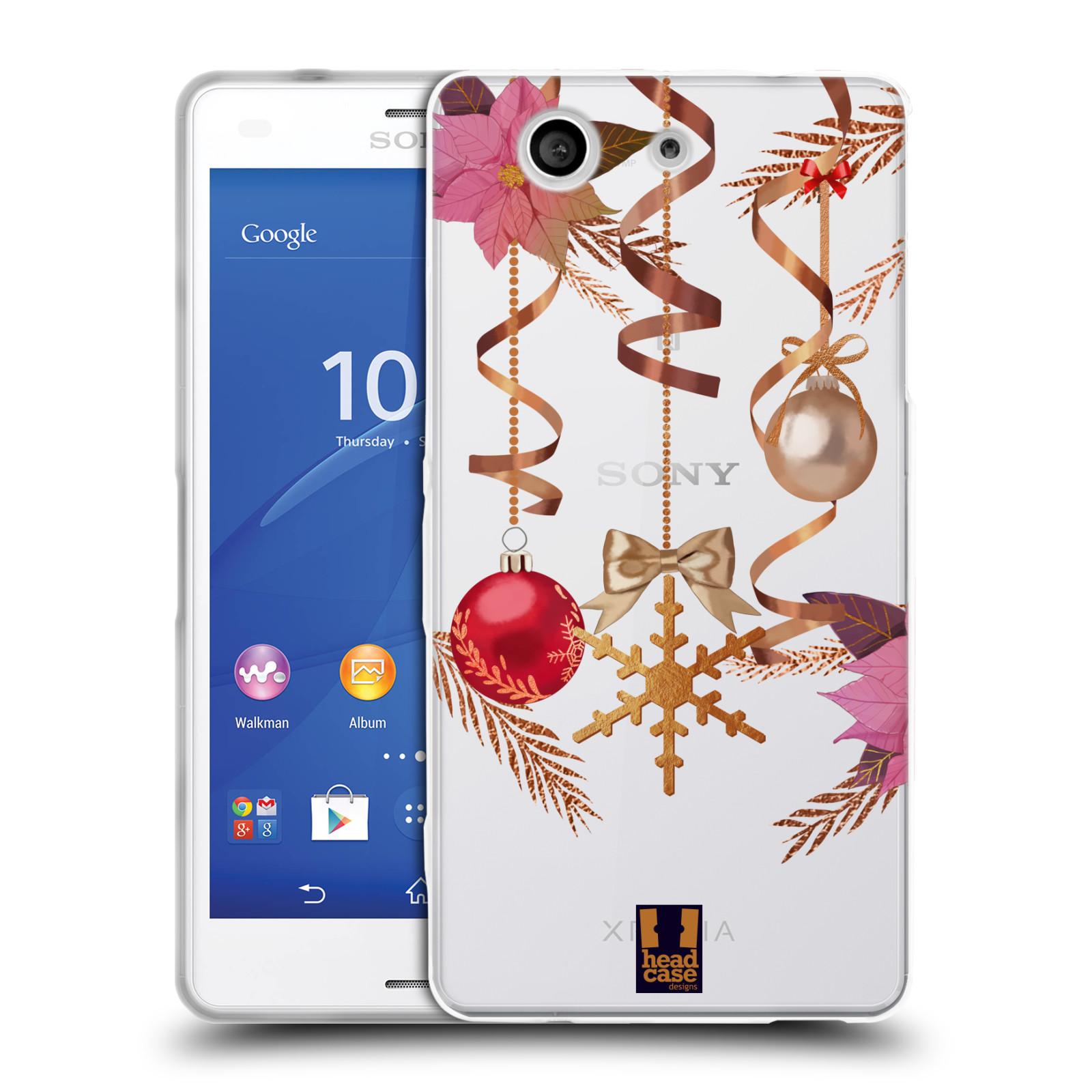 Silikonové pouzdro na mobil Sony Xperia Z3 Compact D5803 - Head Case - Vločka a vánoční ozdoby