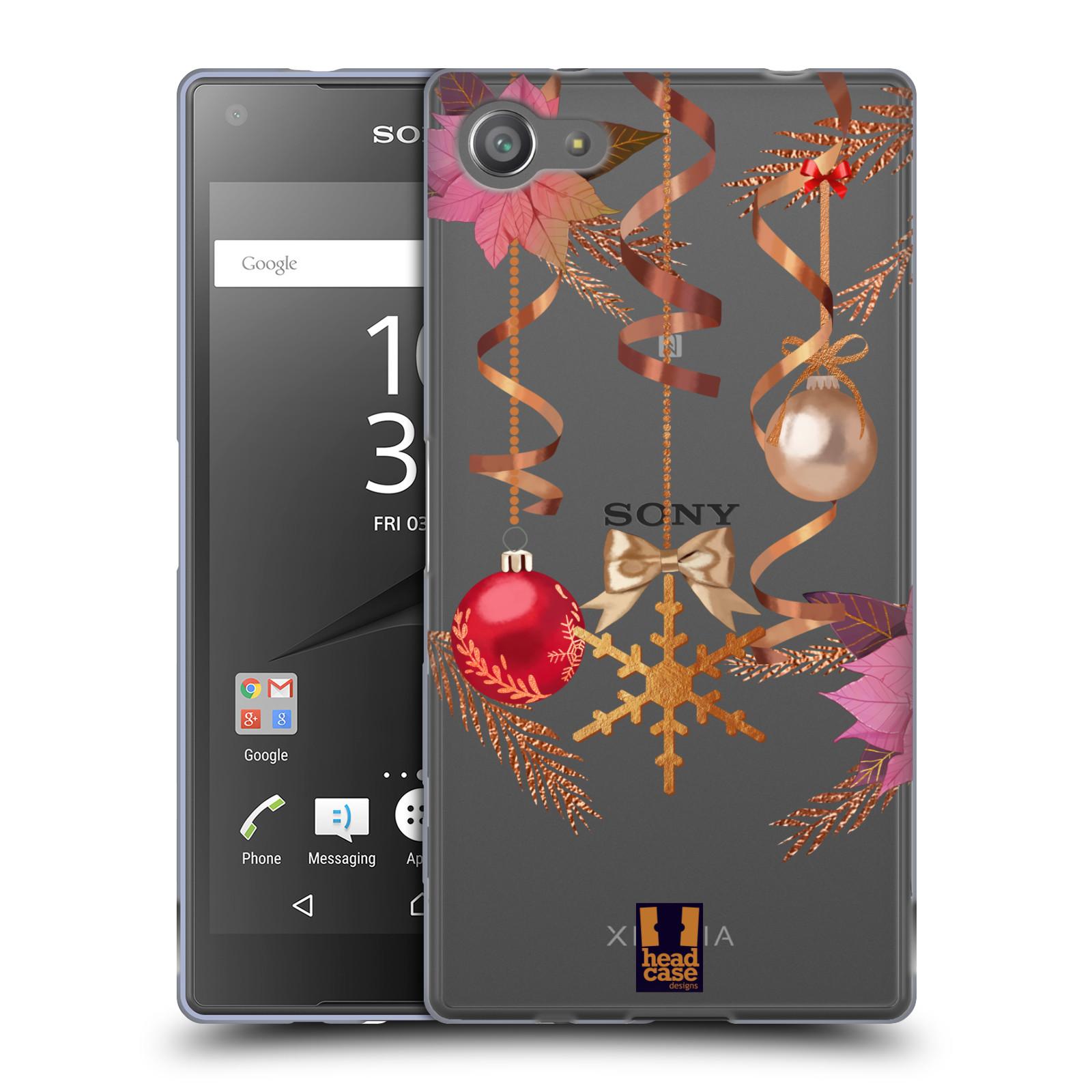 Silikonové pouzdro na mobil Sony Xperia Z5 Compact - Head Case - Vločka a vánoční ozdoby