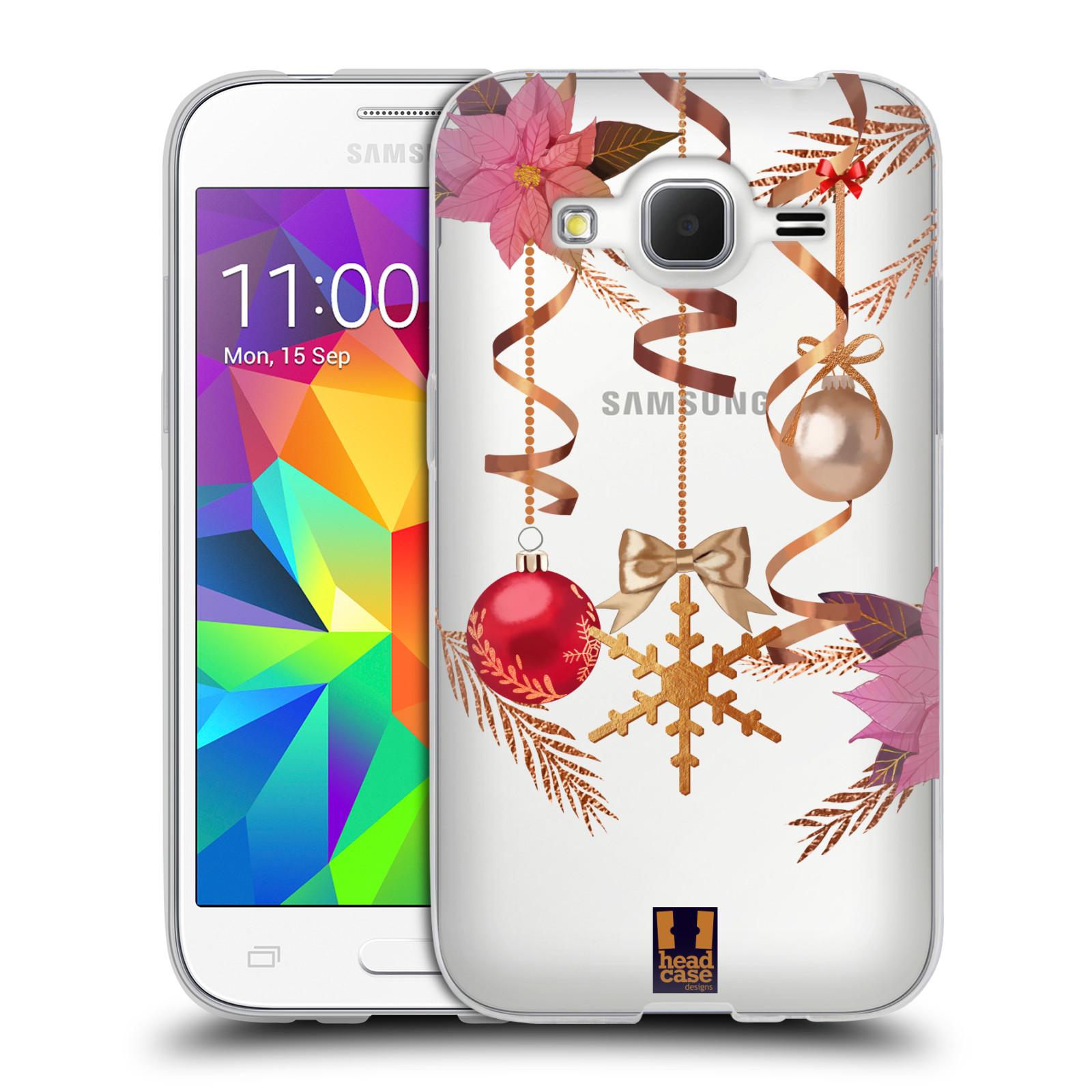 Silikonové pouzdro na mobil Samsung Galaxy Core Prime VE - Head Case - Vločka a vánoční ozdoby