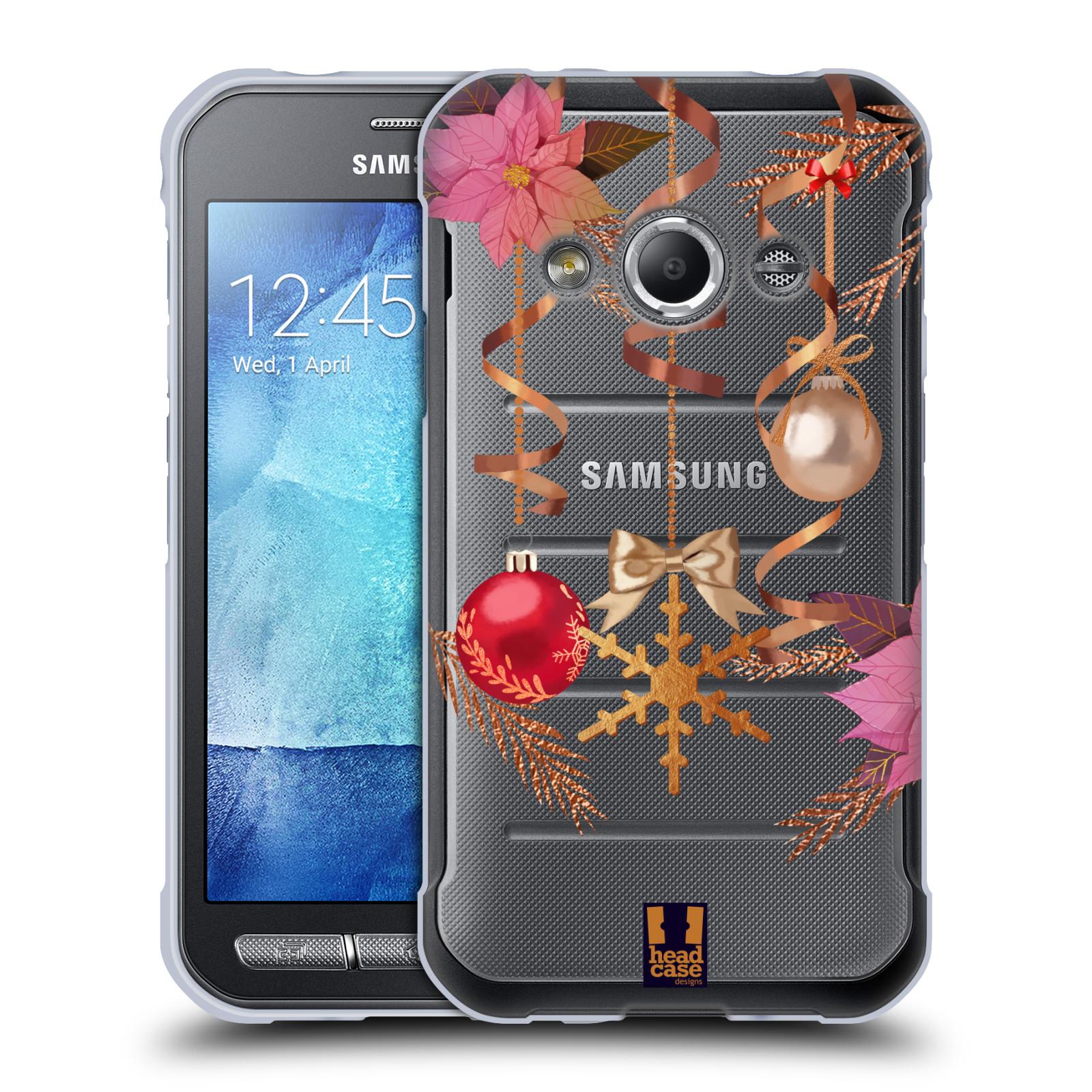 Silikonové pouzdro na mobil Samsung Galaxy Xcover 3 - Head Case - Vločka a vánoční ozdoby