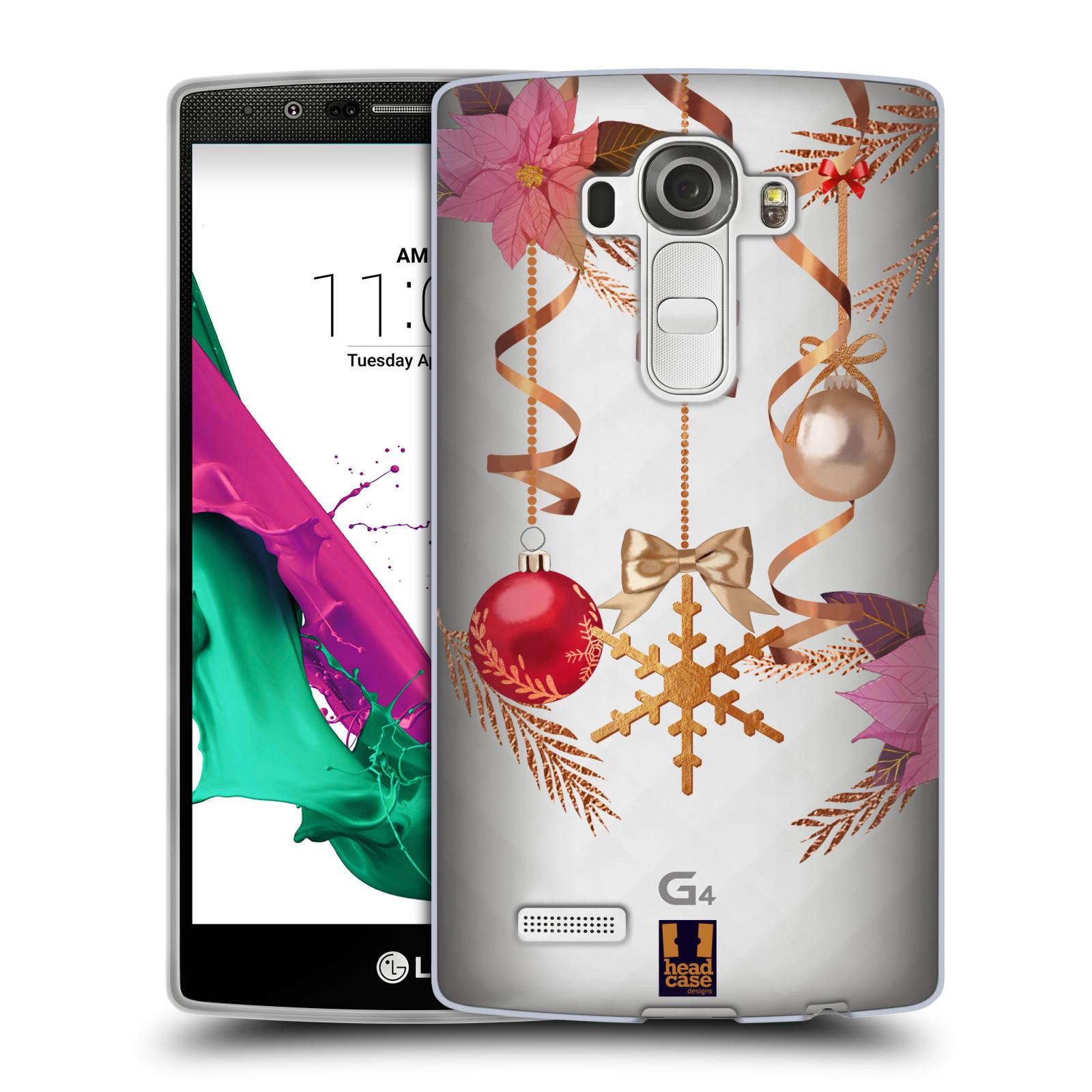 Silikonové pouzdro na mobil LG G4 - Head Case - Vločka a vánoční ozdoby