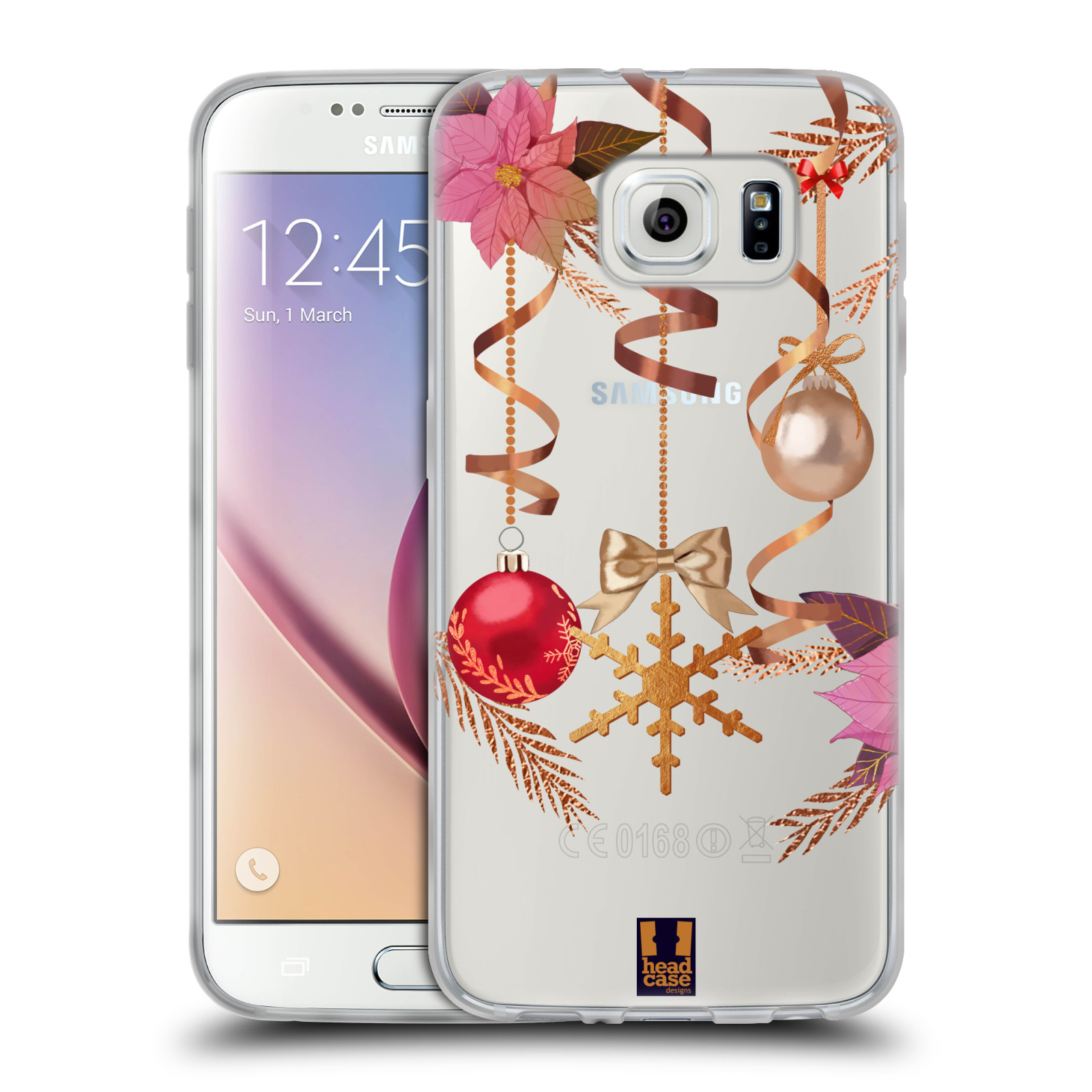 Silikonové pouzdro na mobil Samsung Galaxy S6 - Head Case - Vločka a vánoční ozdoby