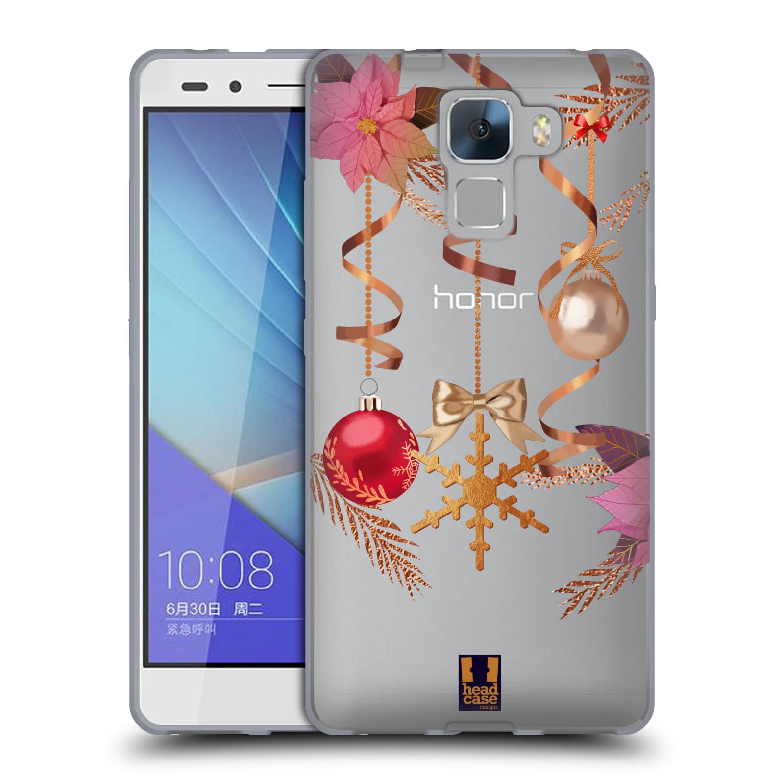 Silikonové pouzdro na mobil Honor 7 - Head Case - Vločka a vánoční ozdoby