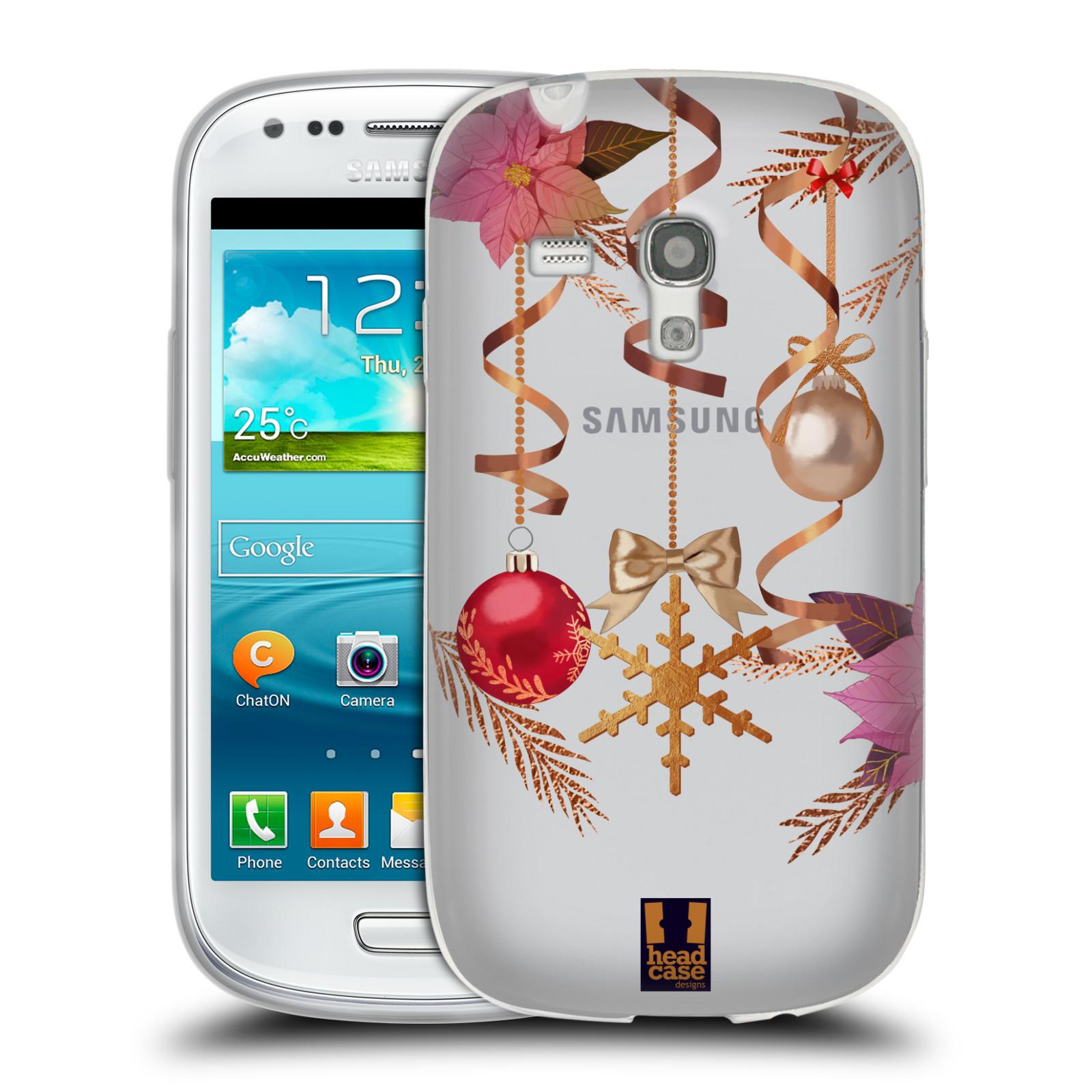 Silikonové pouzdro na mobil Samsung Galaxy S III Mini - Head Case - Vločka a vánoční ozdoby