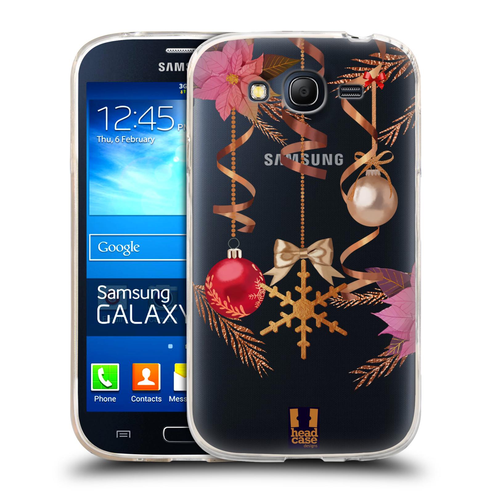 Silikonové pouzdro na mobil Samsung Galaxy Grand Neo - Head Case - Vločka a vánoční ozdoby