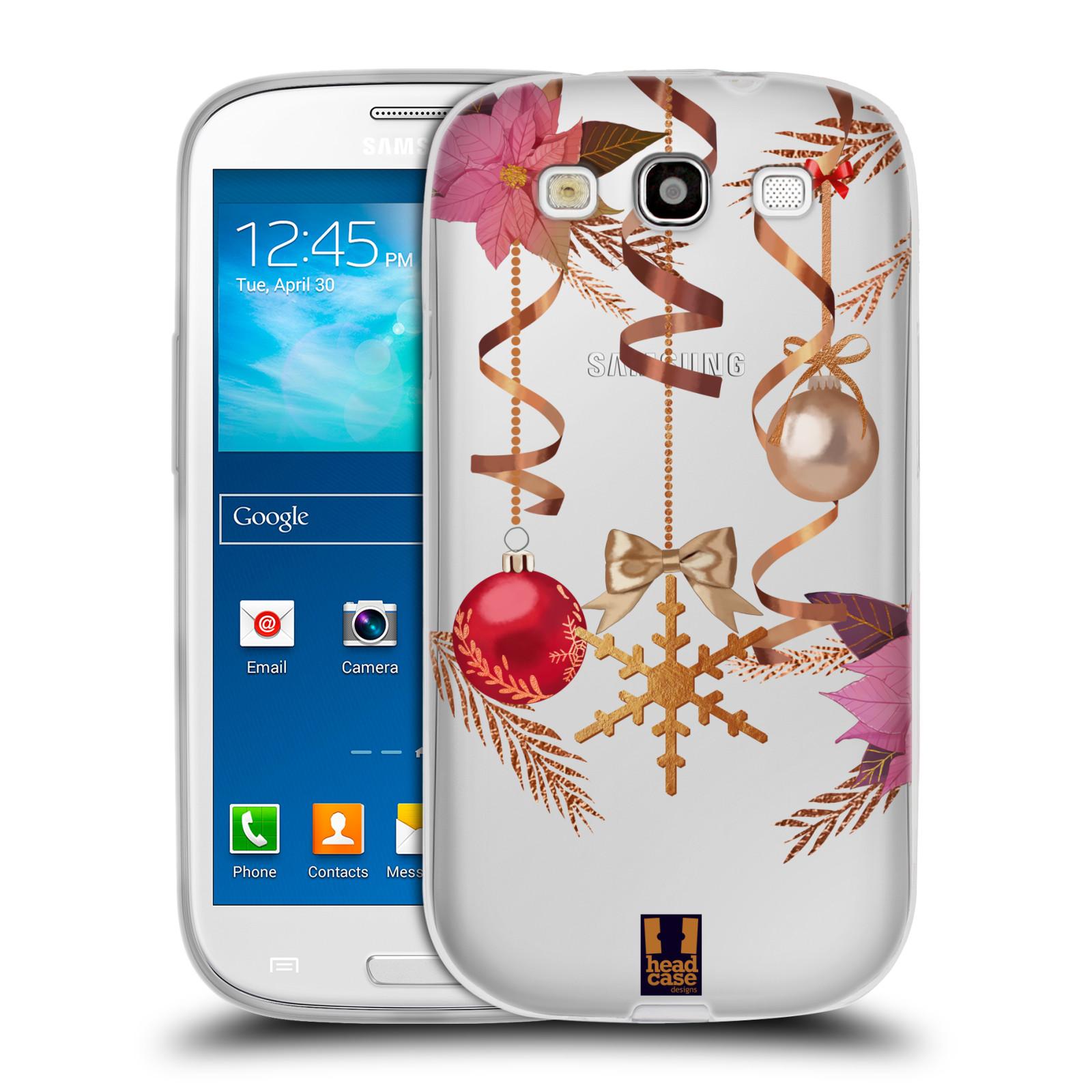 Silikonové pouzdro na mobil Samsung Galaxy S3 Neo - Head Case - Vločka a vánoční ozdoby