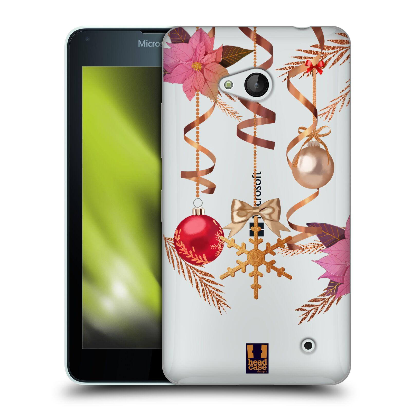 Silikonové pouzdro na mobil Microsoft Lumia 640 - Head Case - Vločka a vánoční ozdoby