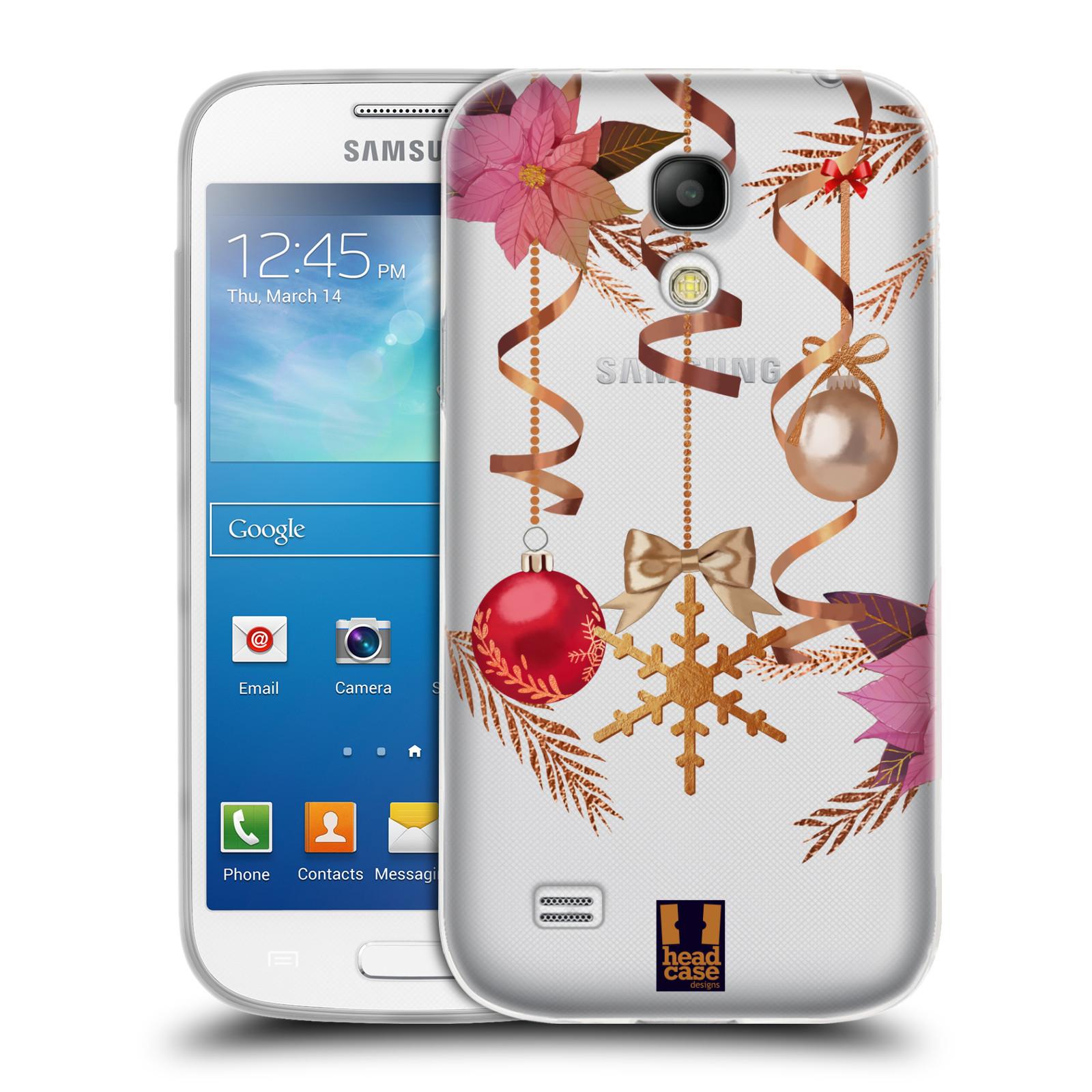 Silikonové pouzdro na mobil Samsung Galaxy S4 Mini - Head Case - Vločka a vánoční ozdoby