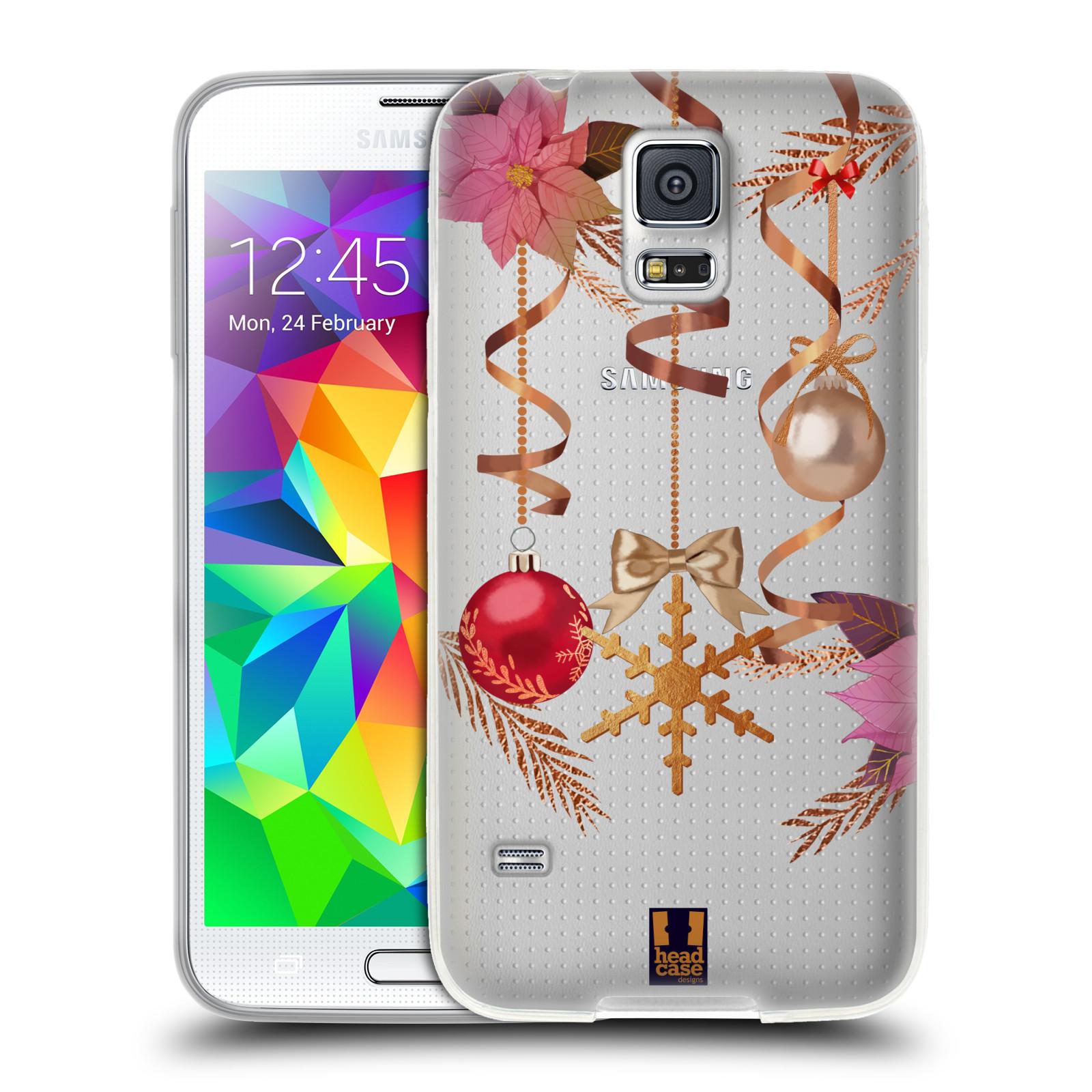 Silikonové pouzdro na mobil Samsung Galaxy S5 Neo - Head Case - Vločka a vánoční ozdoby