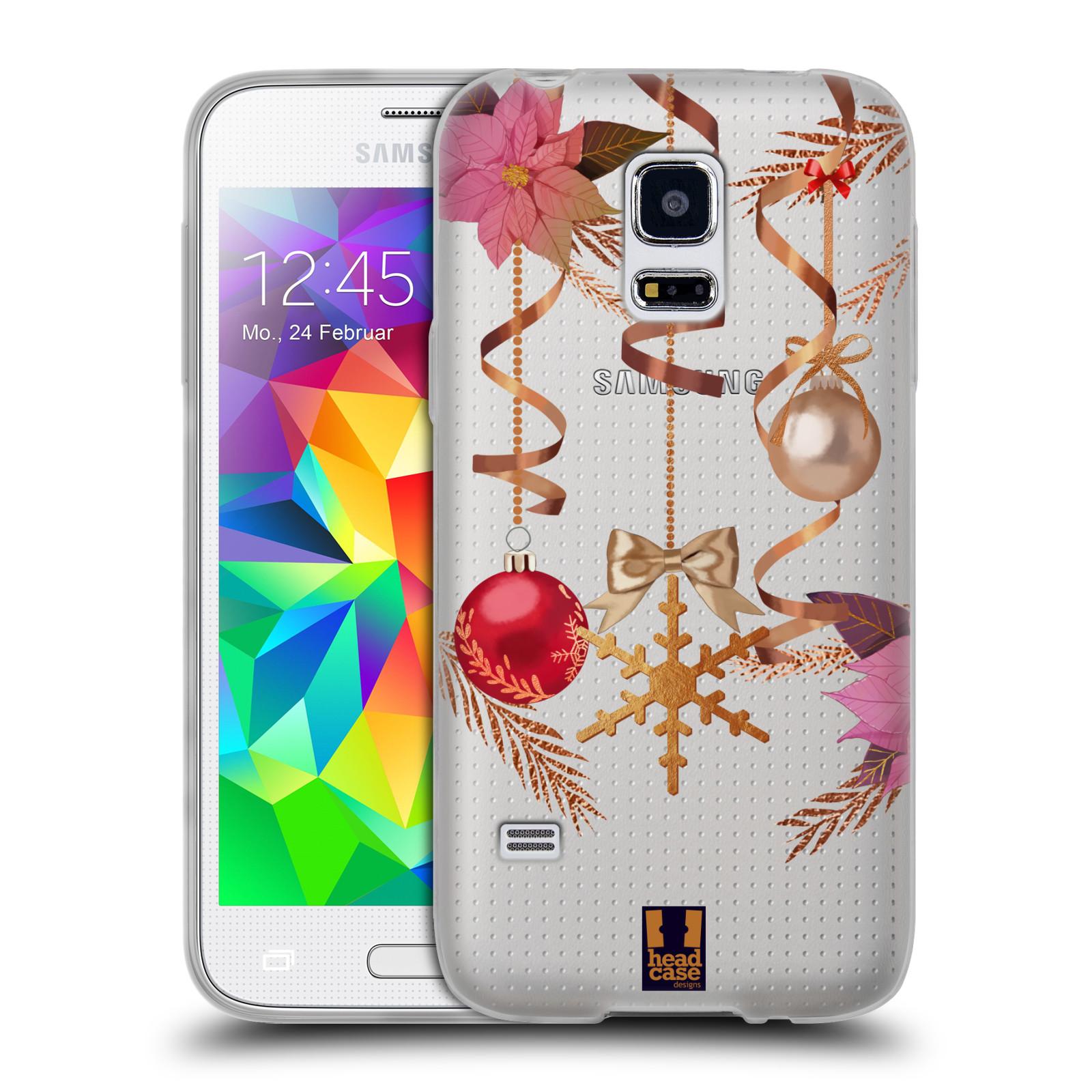 Silikonové pouzdro na mobil Samsung Galaxy S5 Mini - Head Case - Vločka a vánoční ozdoby