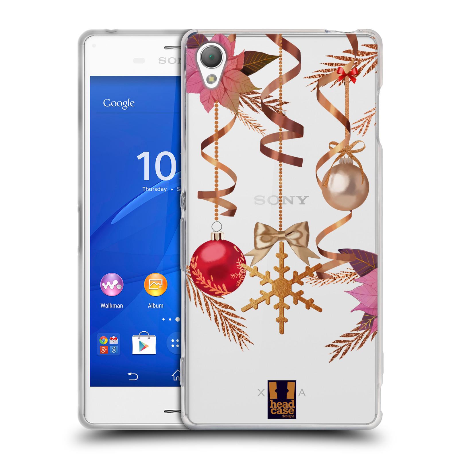 Silikonové pouzdro na mobil Sony Xperia Z3 D6603 - Head Case - Vločka a vánoční ozdoby