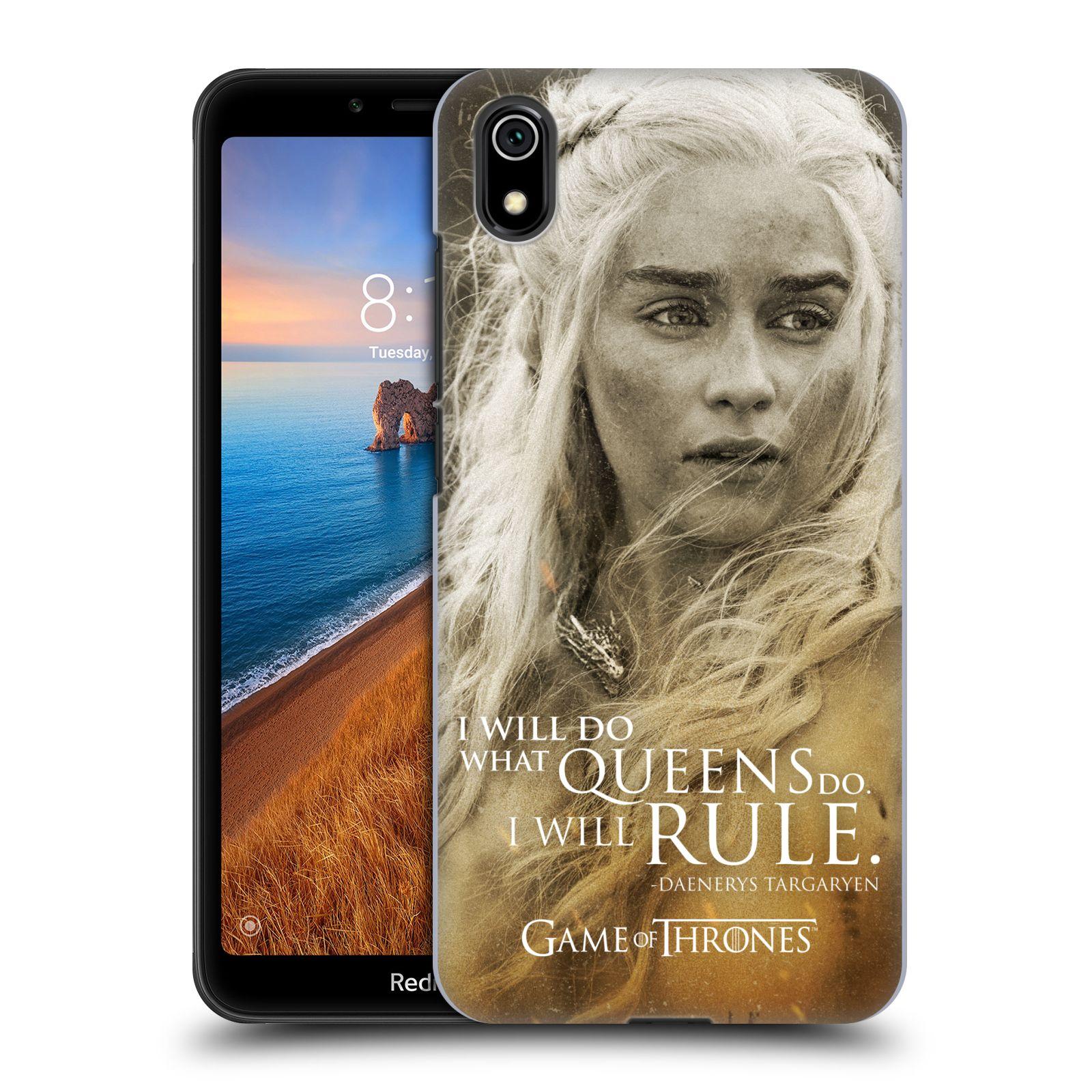 Plastové pouzdro na mobil Xiaomi Redmi 7A - Head Case - Hra o trůny - Daenerys Targaryen