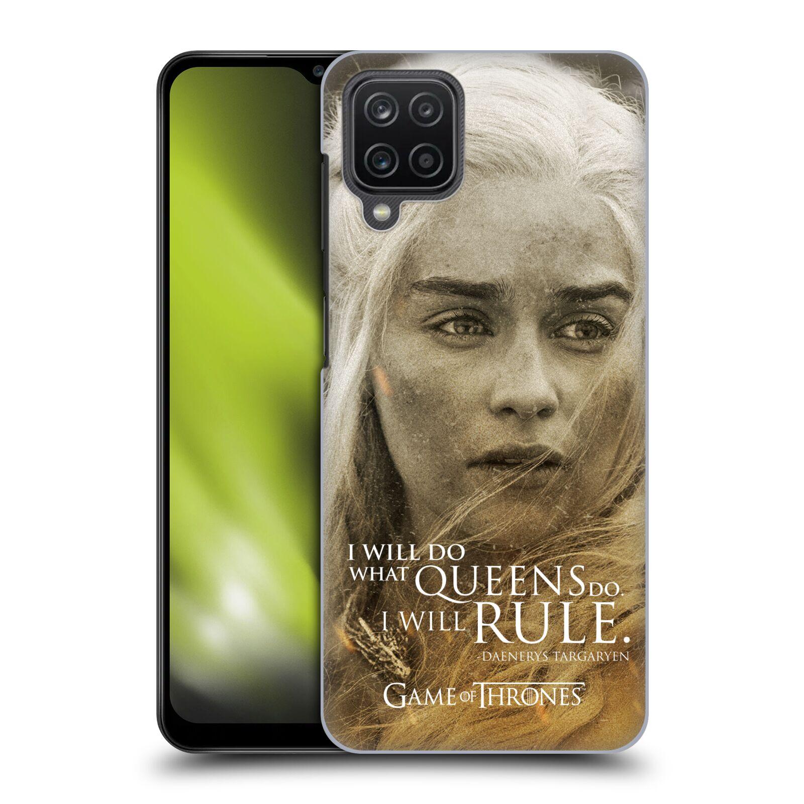 Plastové pouzdro na mobil Samsung Galaxy A12 - Head Case - Hra o trůny - Daenerys Targaryen