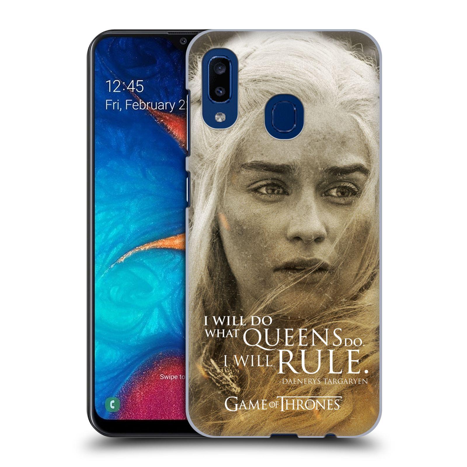 Plastové pouzdro na mobil Samsung Galaxy A20 - Head Case - Hra o trůny - Daenerys Targaryen