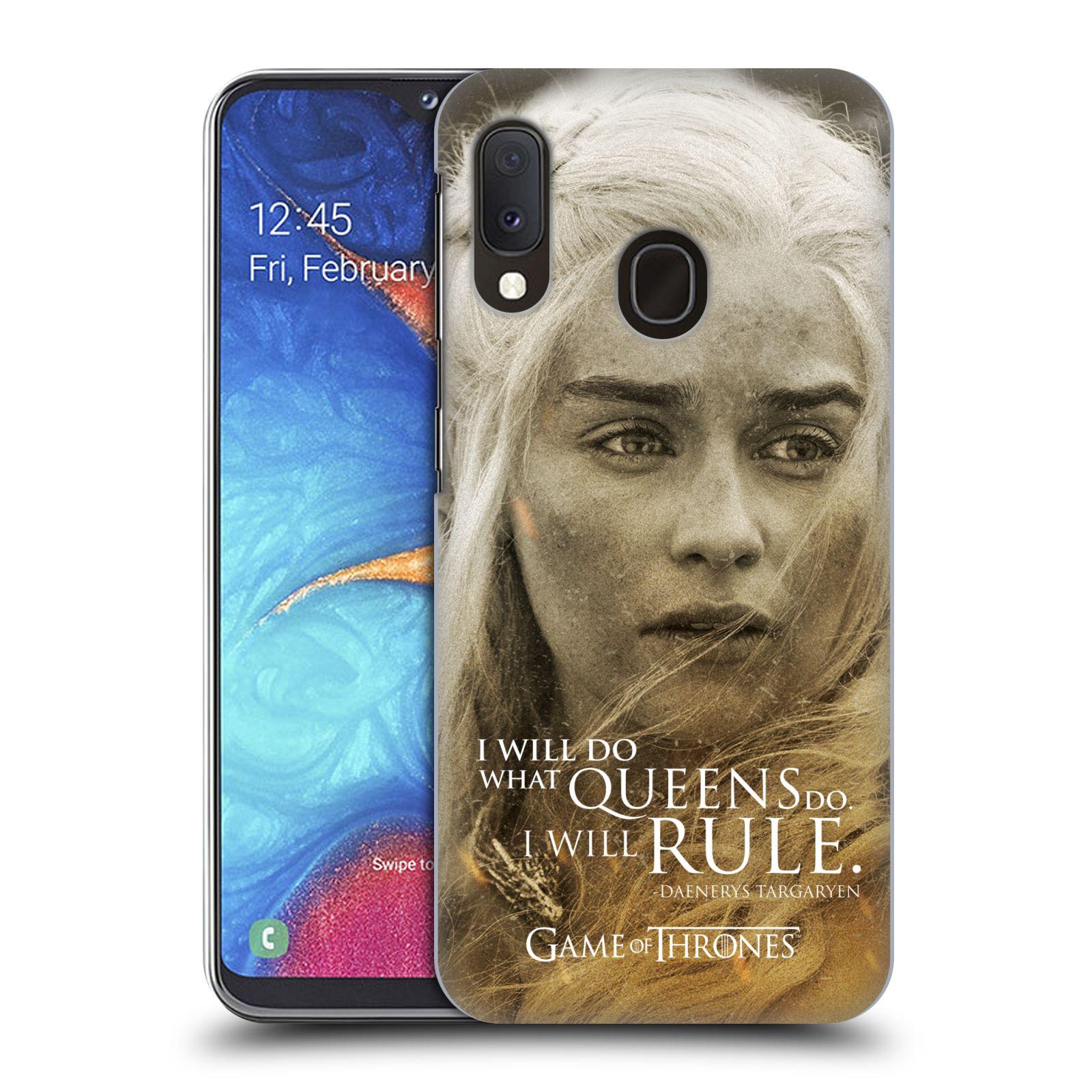 Plastové pouzdro na mobil Samsung Galaxy A20e - Head Case - Hra o trůny - Daenerys Targaryen