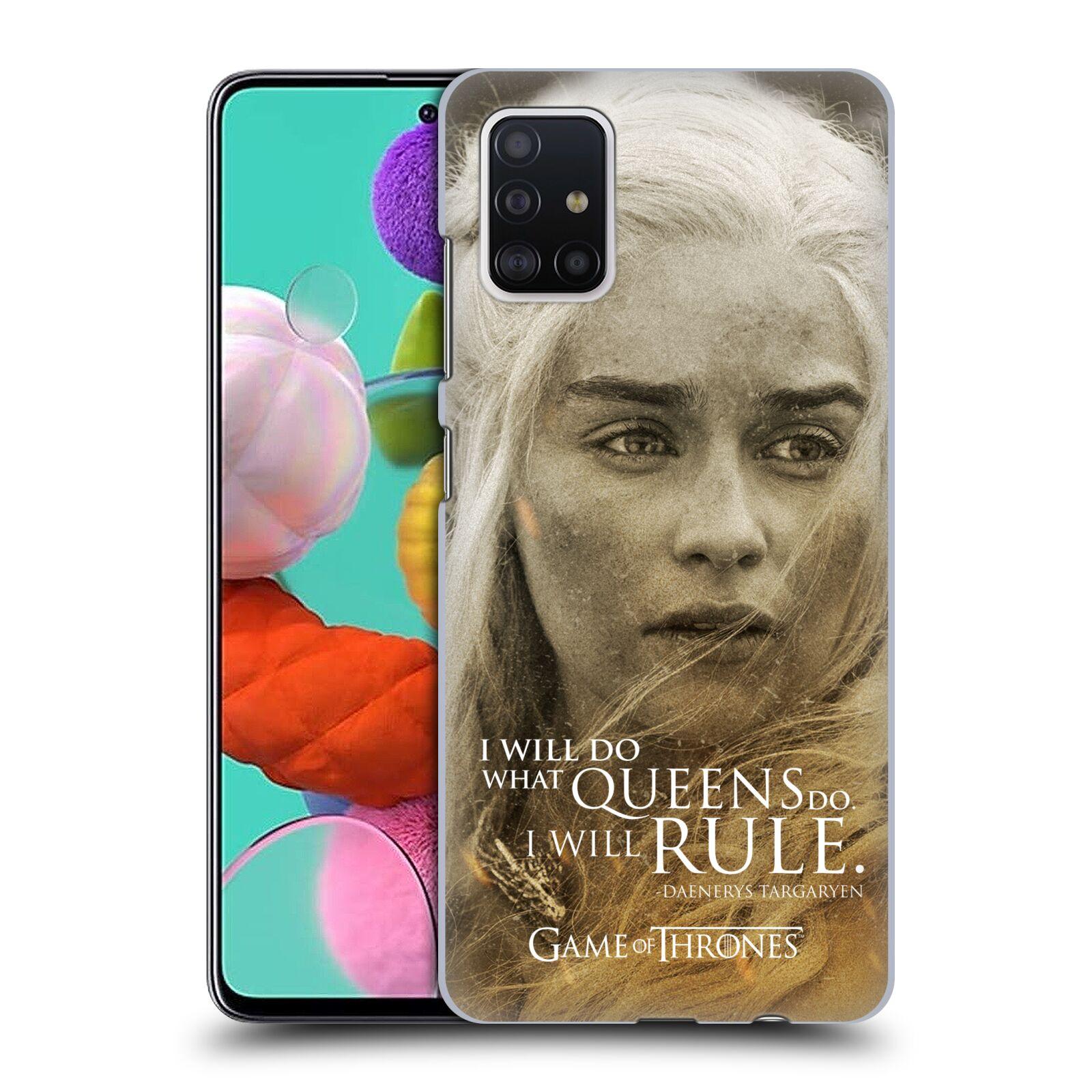 Plastové pouzdro na mobil Samsung Galaxy A51 - Head Case - Hra o trůny - Daenerys Targaryen