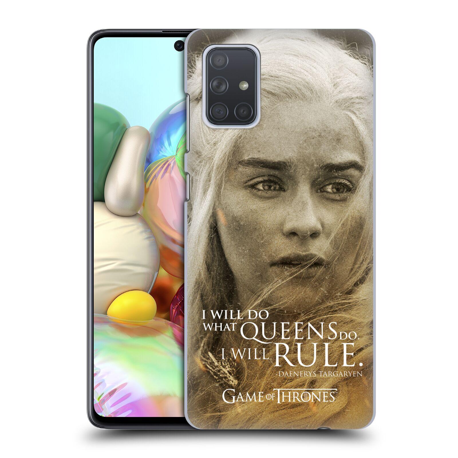 Plastové pouzdro na mobil Samsung Galaxy A71 - Head Case - Hra o trůny - Daenerys Targaryen