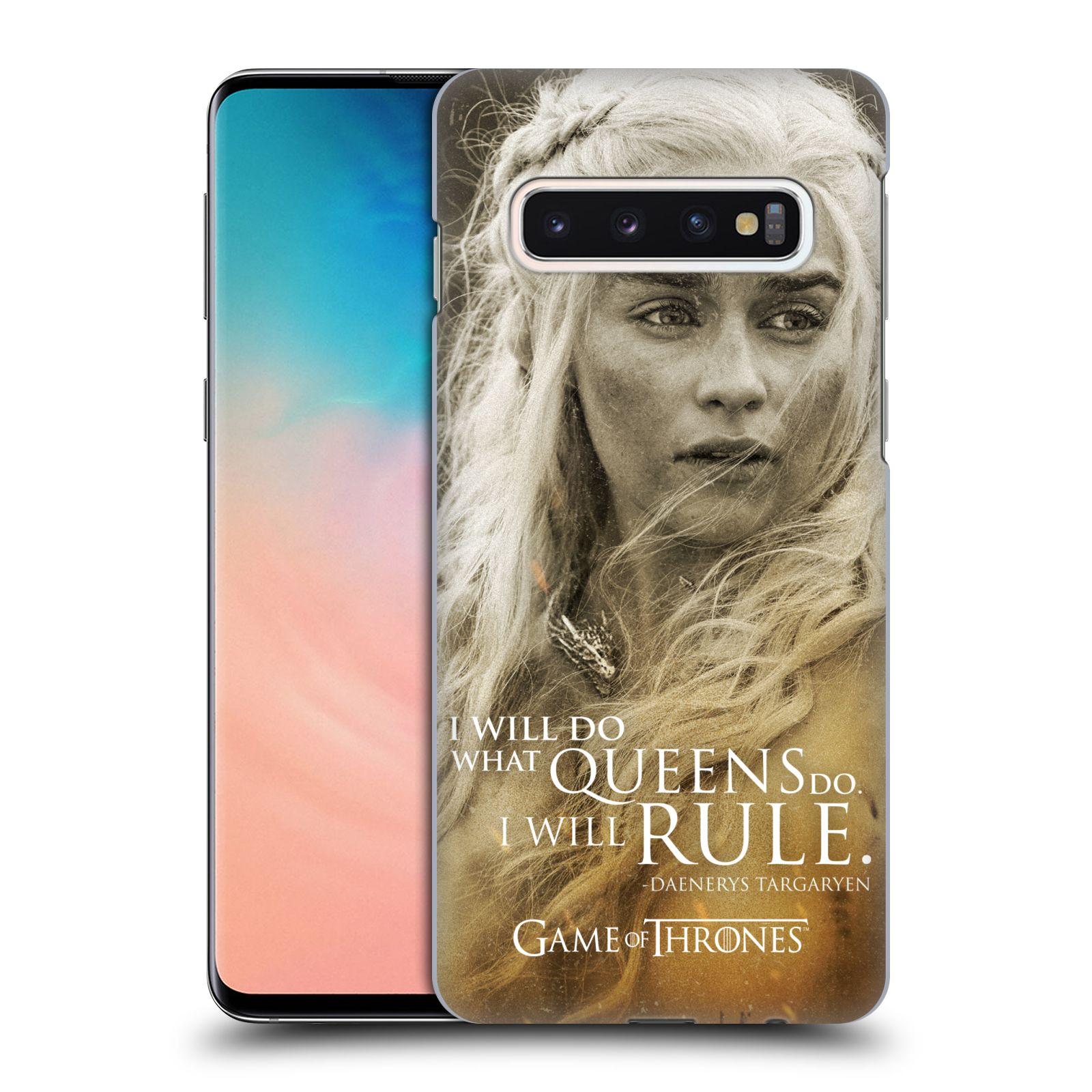 Plastové pouzdro na mobil Samsung Galaxy S10 - Head Case - Hra o trůny - Daenerys Targaryen