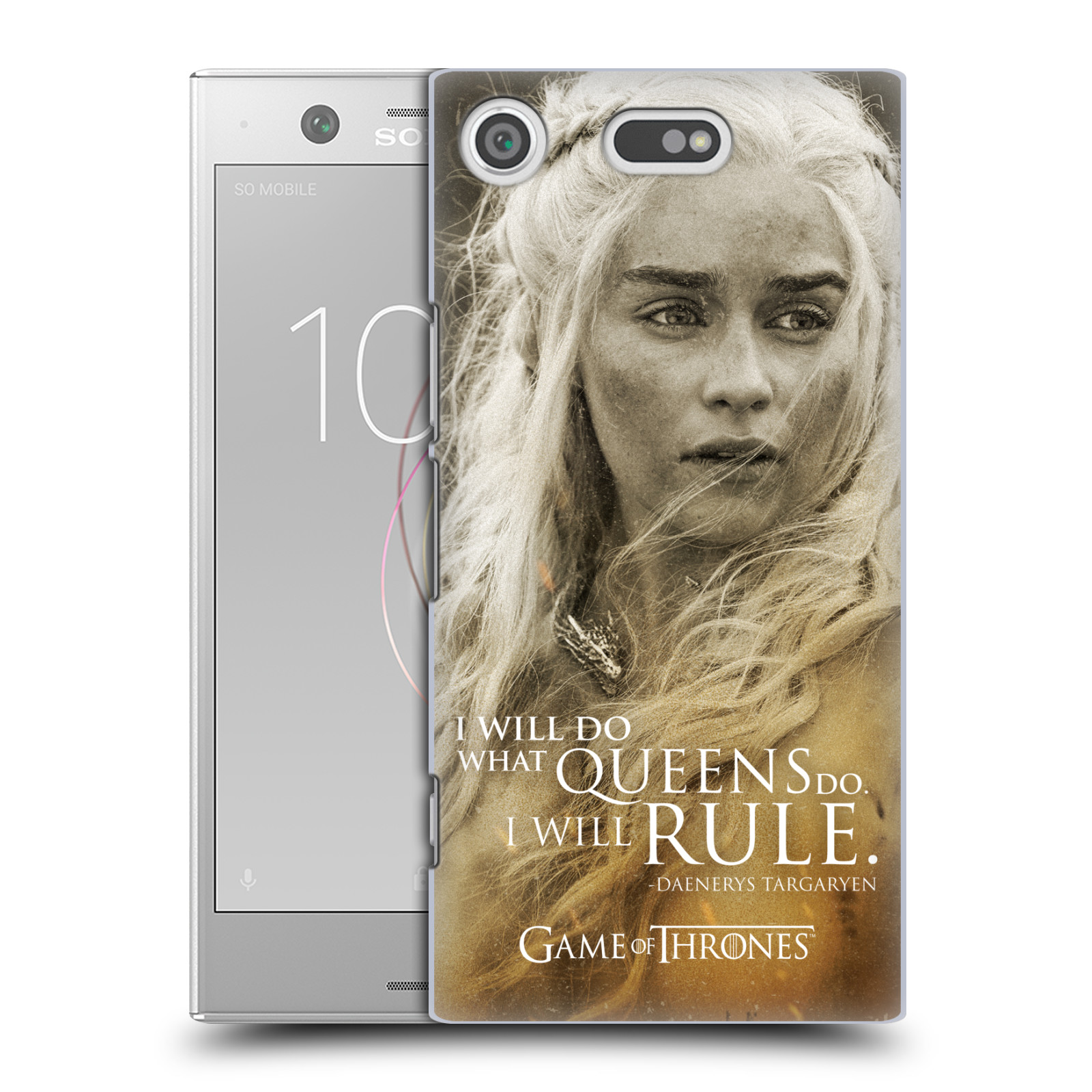 Plastové pouzdro na mobil Sony Xperia XZ1 Compact - Head Case - Hra o trůny - Daenerys Targaryen