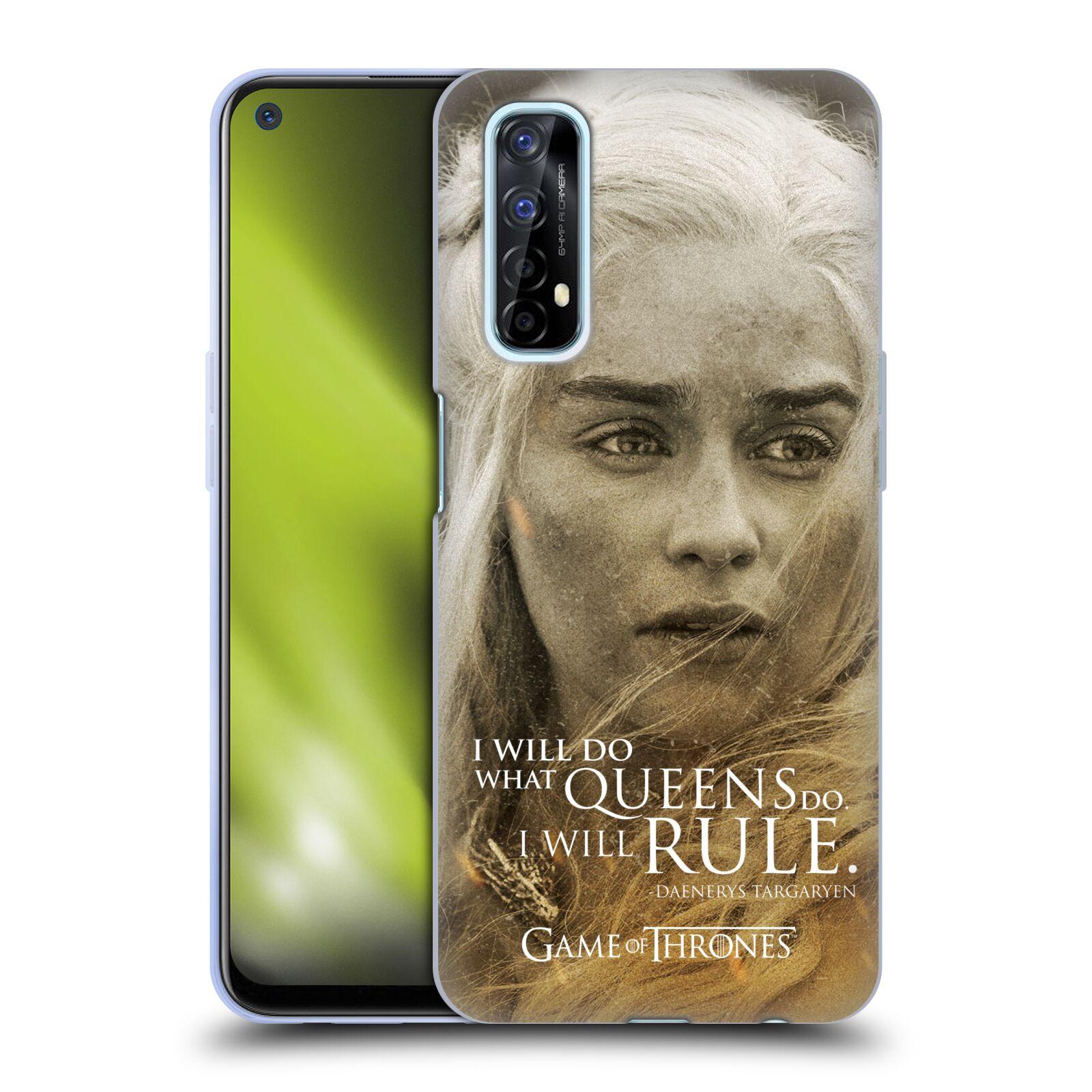 Silikonové pouzdro na mobil Realme 7 - Head Case - Hra o trůny - Daenerys Targaryen
