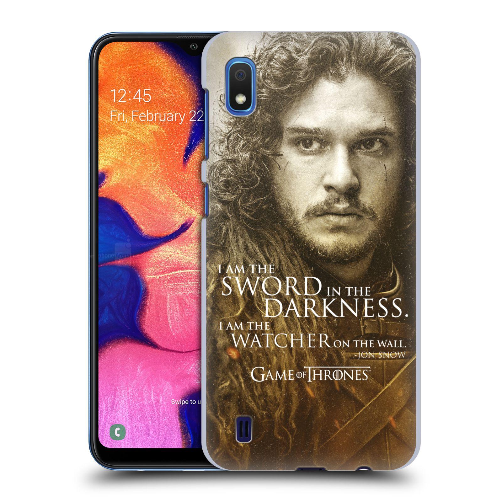 Plastové pouzdro na mobil Samsung Galaxy A10 - Head Case - Hra o trůny - Jon Snow
