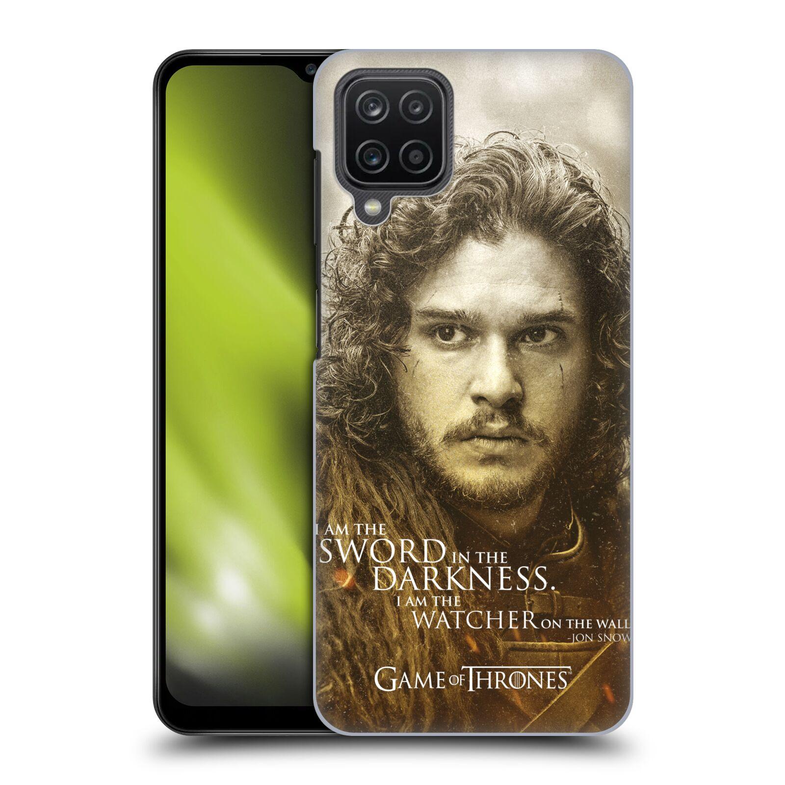 Plastové pouzdro na mobil Samsung Galaxy A12 - Head Case - Hra o trůny - Jon Snow