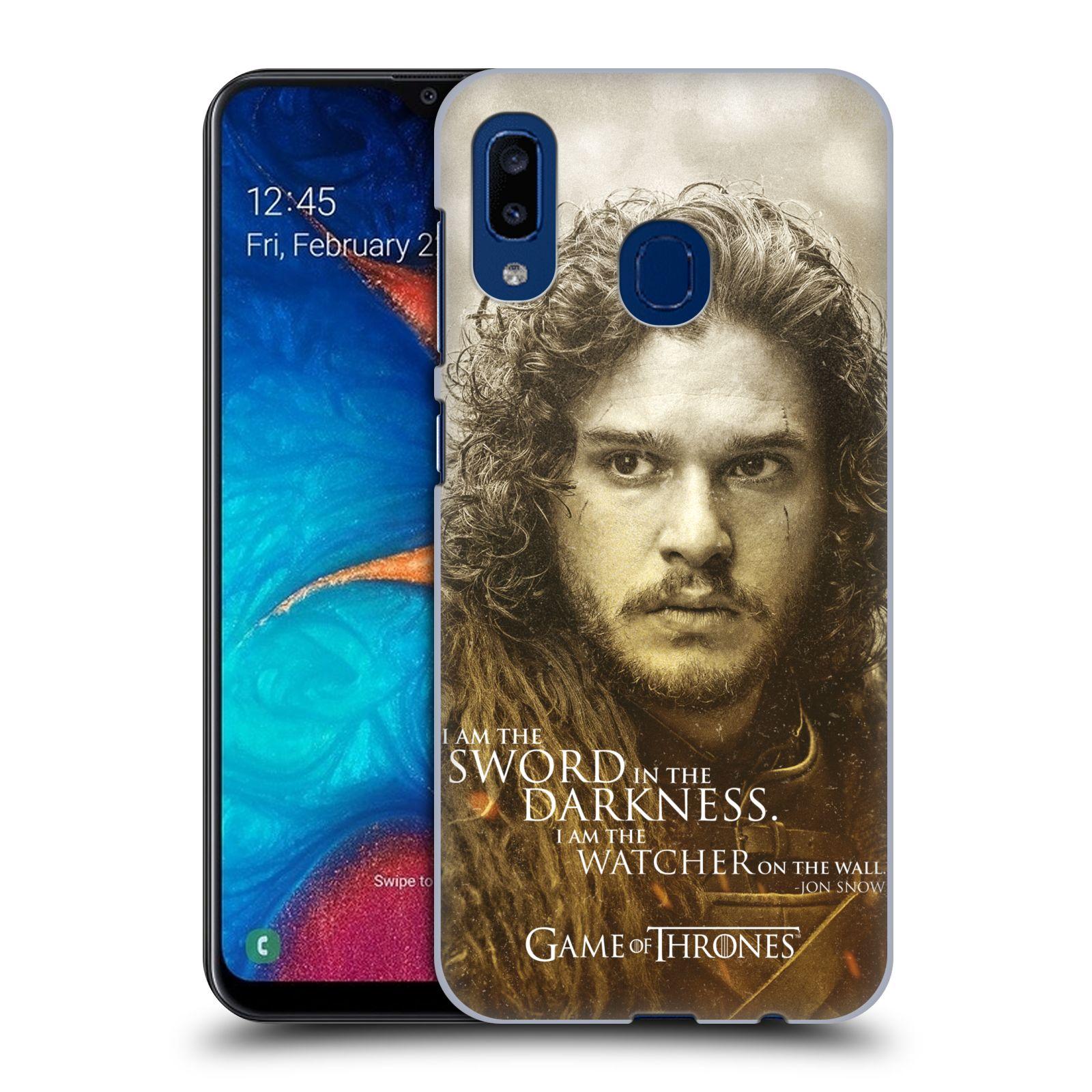 Plastové pouzdro na mobil Samsung Galaxy A20 - Head Case - Hra o trůny - Jon Snow