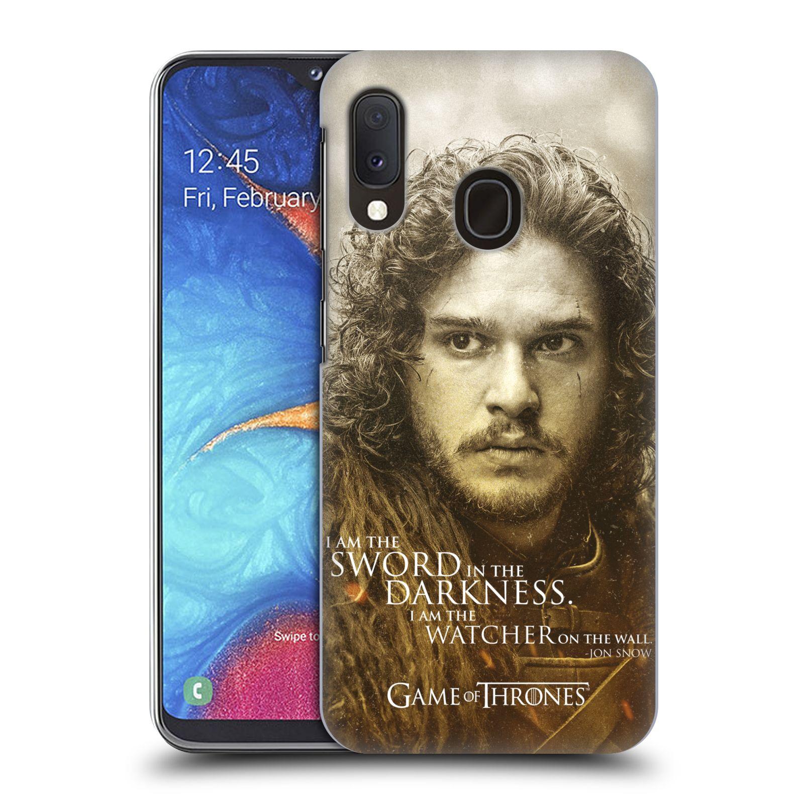 Plastové pouzdro na mobil Samsung Galaxy A20e - Head Case - Hra o trůny - Jon Snow