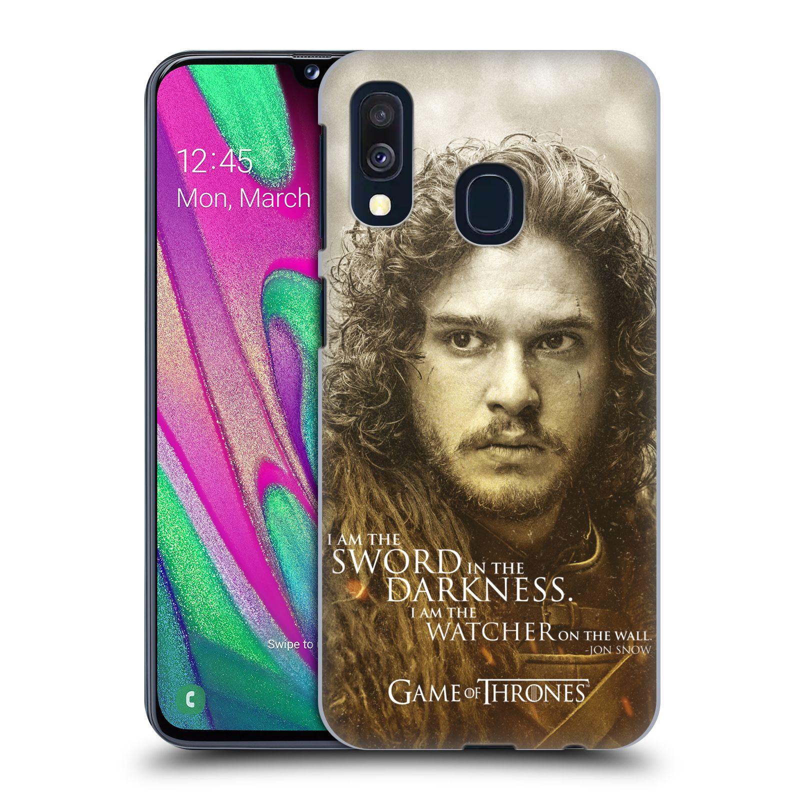 Plastové pouzdro na mobil Samsung Galaxy A40 - Head Case - Hra o trůny - Jon Snow