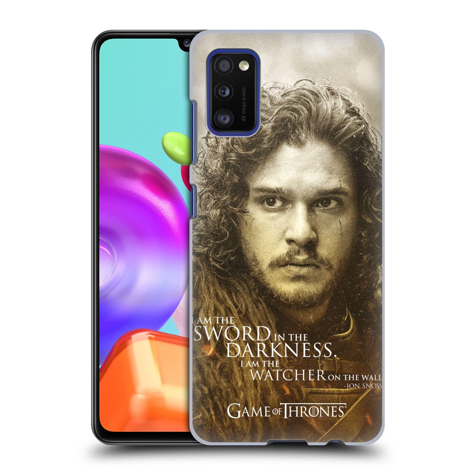 Plastové pouzdro na mobil Samsung Galaxy A41 - Head Case - Hra o trůny - Jon Snow
