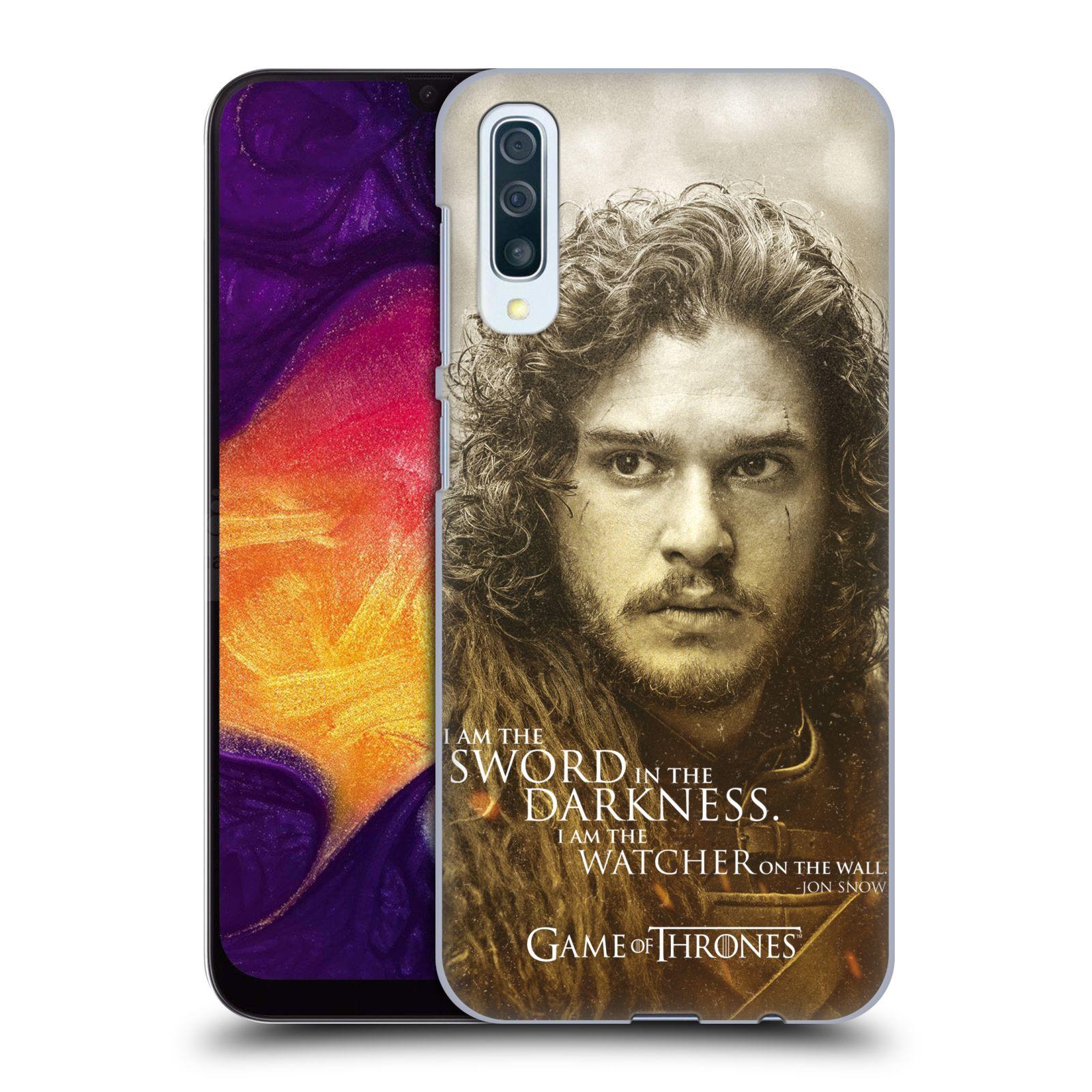 Plastové pouzdro na mobil Samsung Galaxy A50 / A30s - Head Case - Hra o trůny - Jon Snow