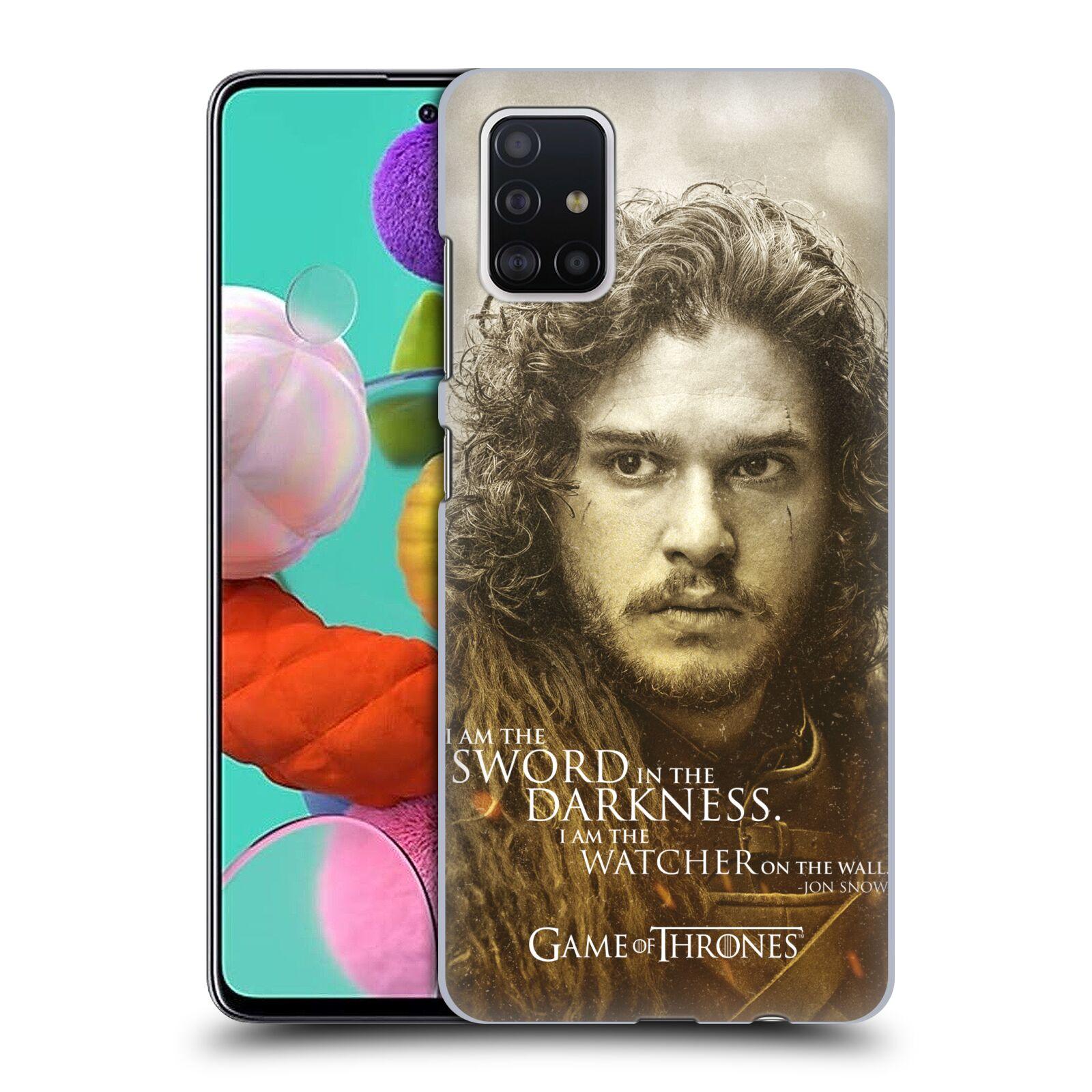 Plastové pouzdro na mobil Samsung Galaxy A51 - Head Case - Hra o trůny - Jon Snow