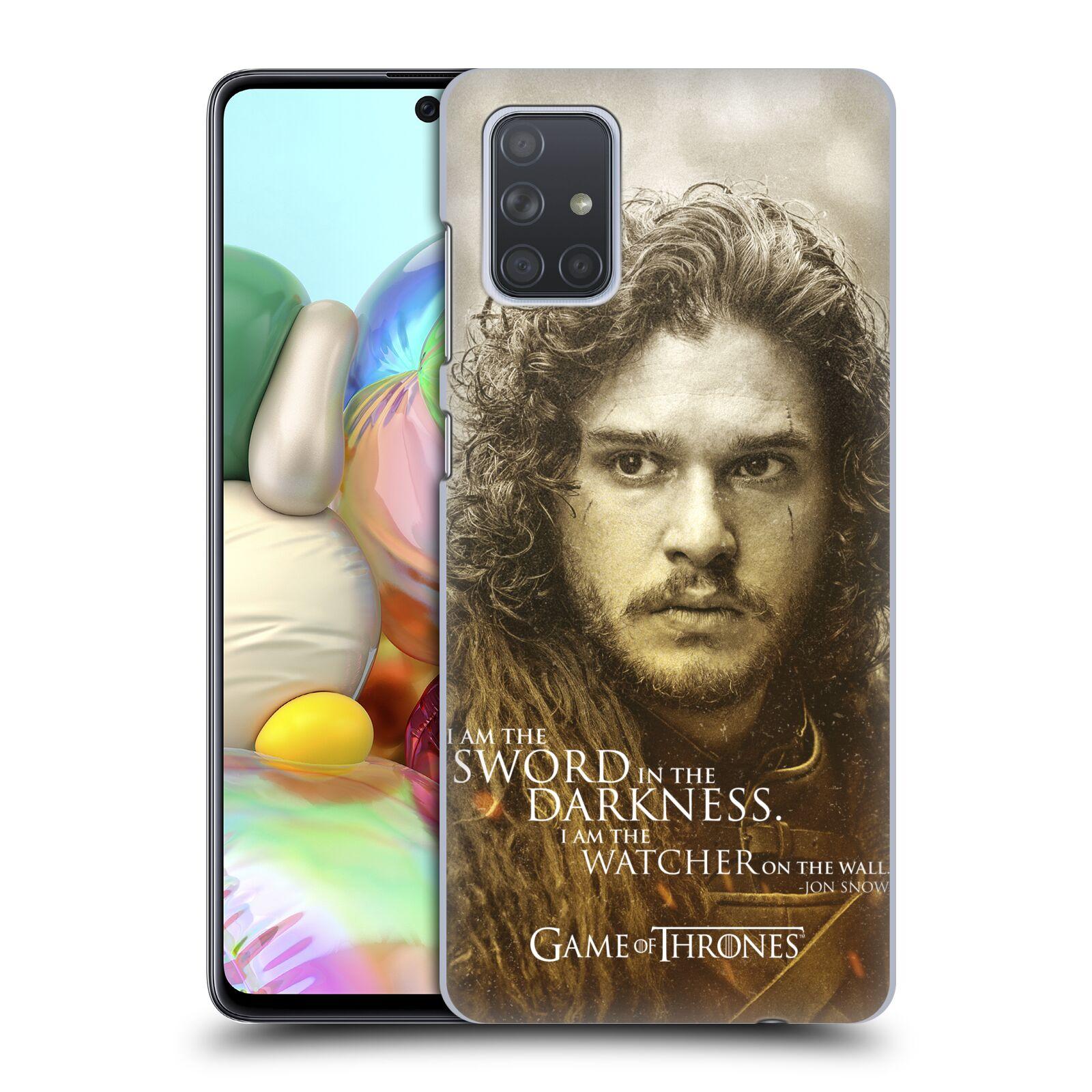Plastové pouzdro na mobil Samsung Galaxy A71 - Head Case - Hra o trůny - Jon Snow