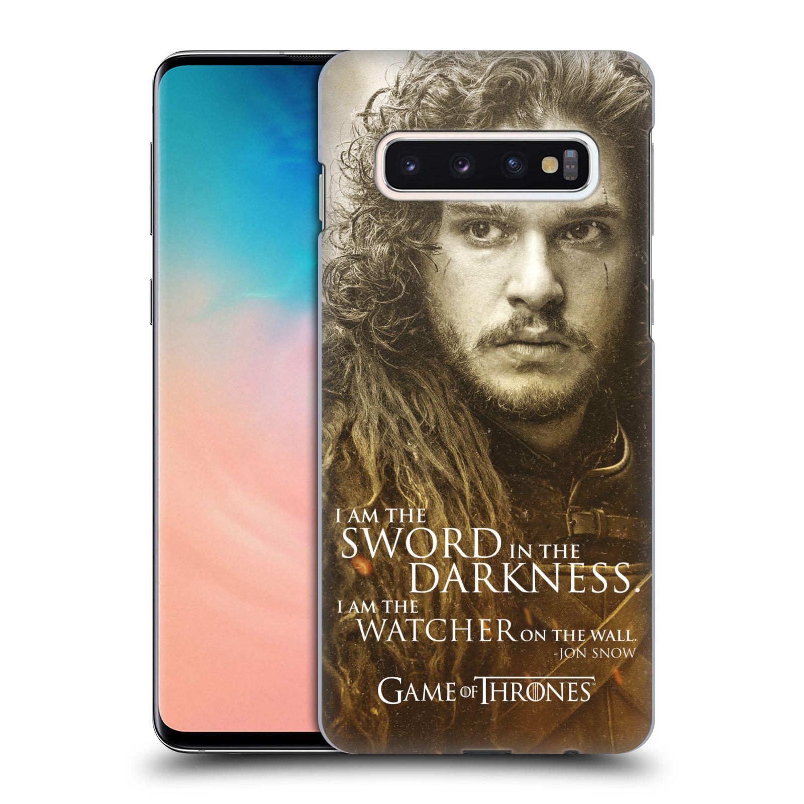 Plastové pouzdro na mobil Samsung Galaxy S10 - Head Case - Hra o trůny - Jon Snow